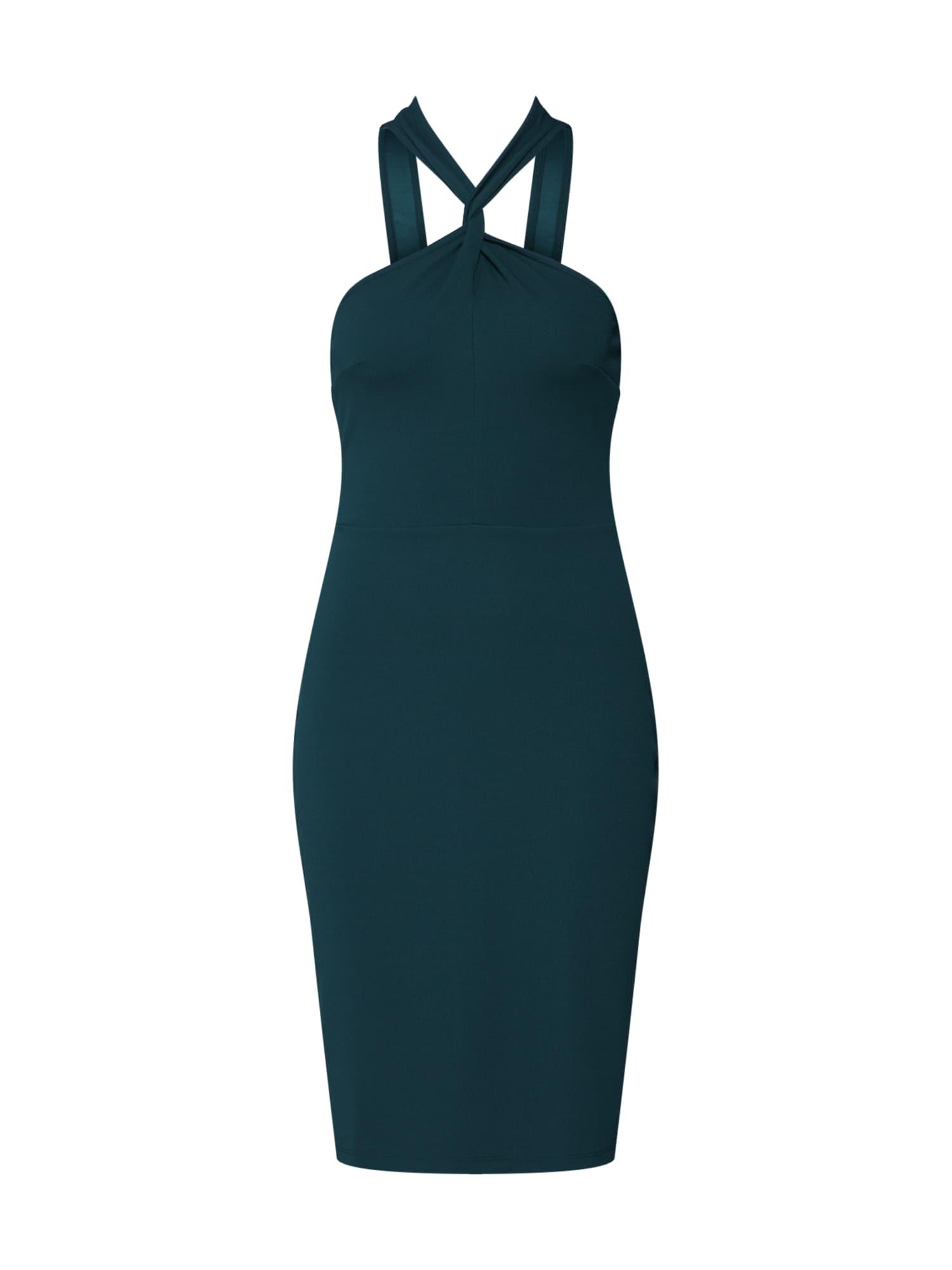 ABOUT YOU Kokteilinė suknelė 'Cinzia' smaragdinė spalva