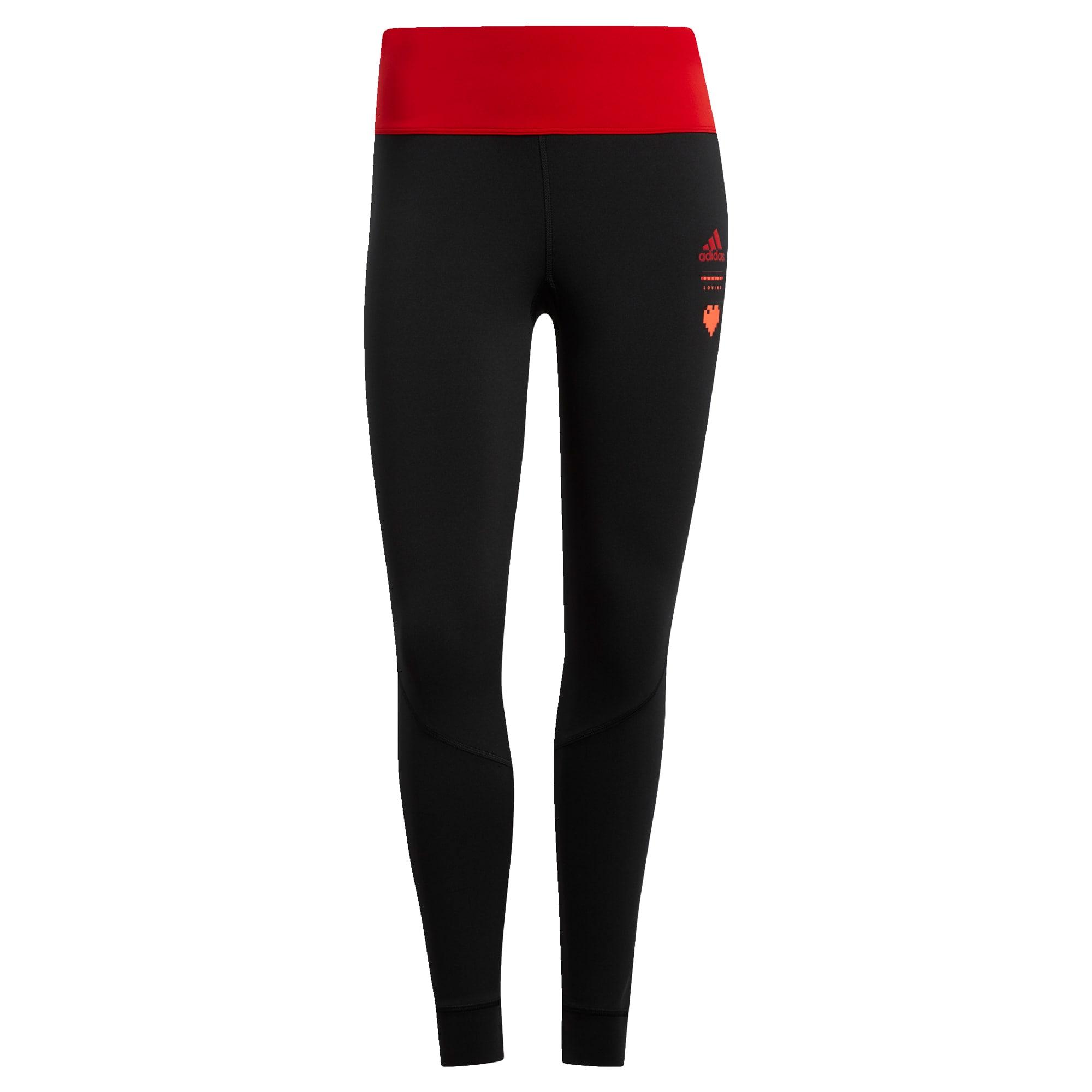 ADIDAS PERFORMANCE Sportinės kelnės raudona / juoda