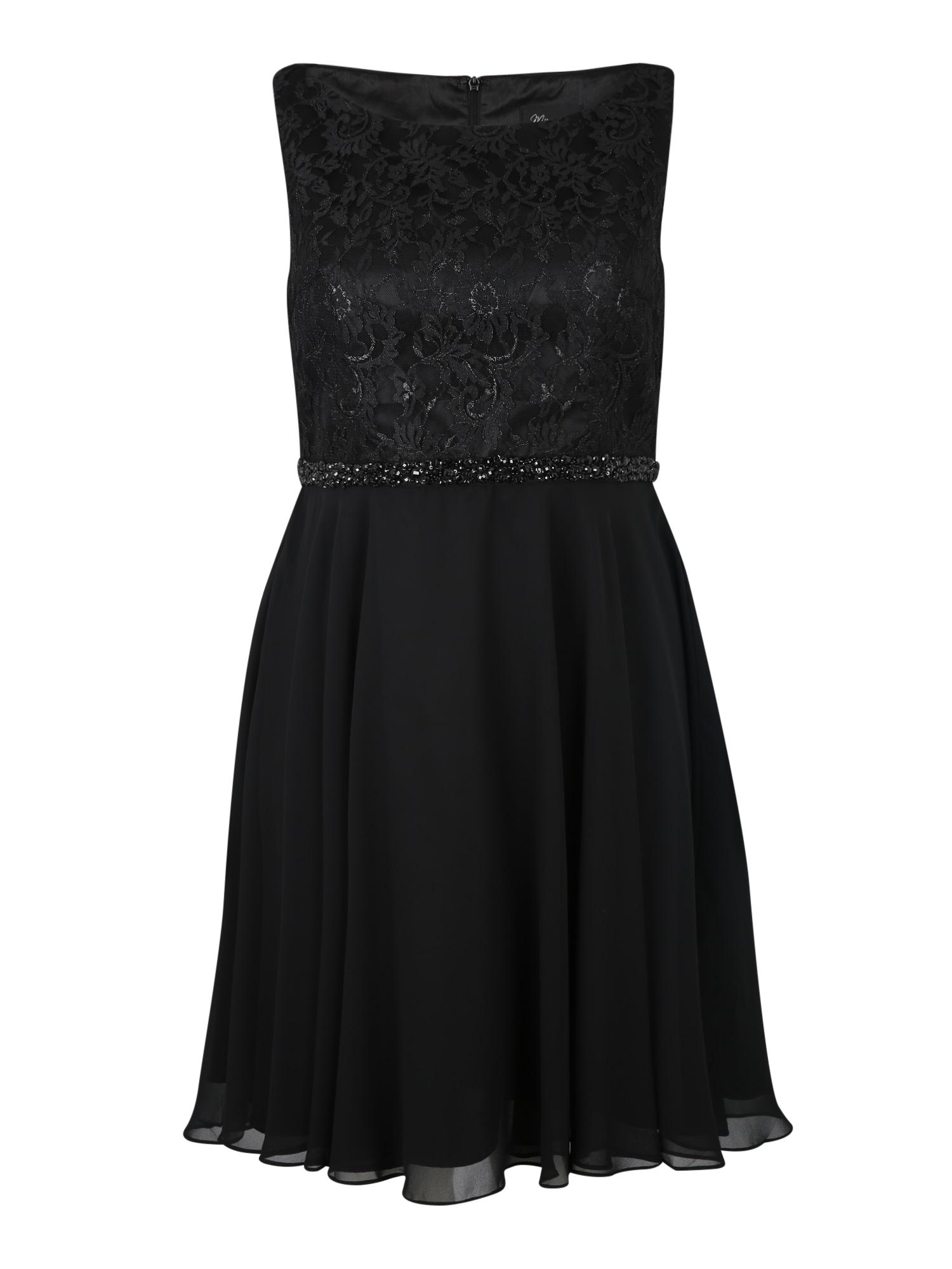 My Mascara Curves Kokteilové šaty 'BEADED LACE'  čierna