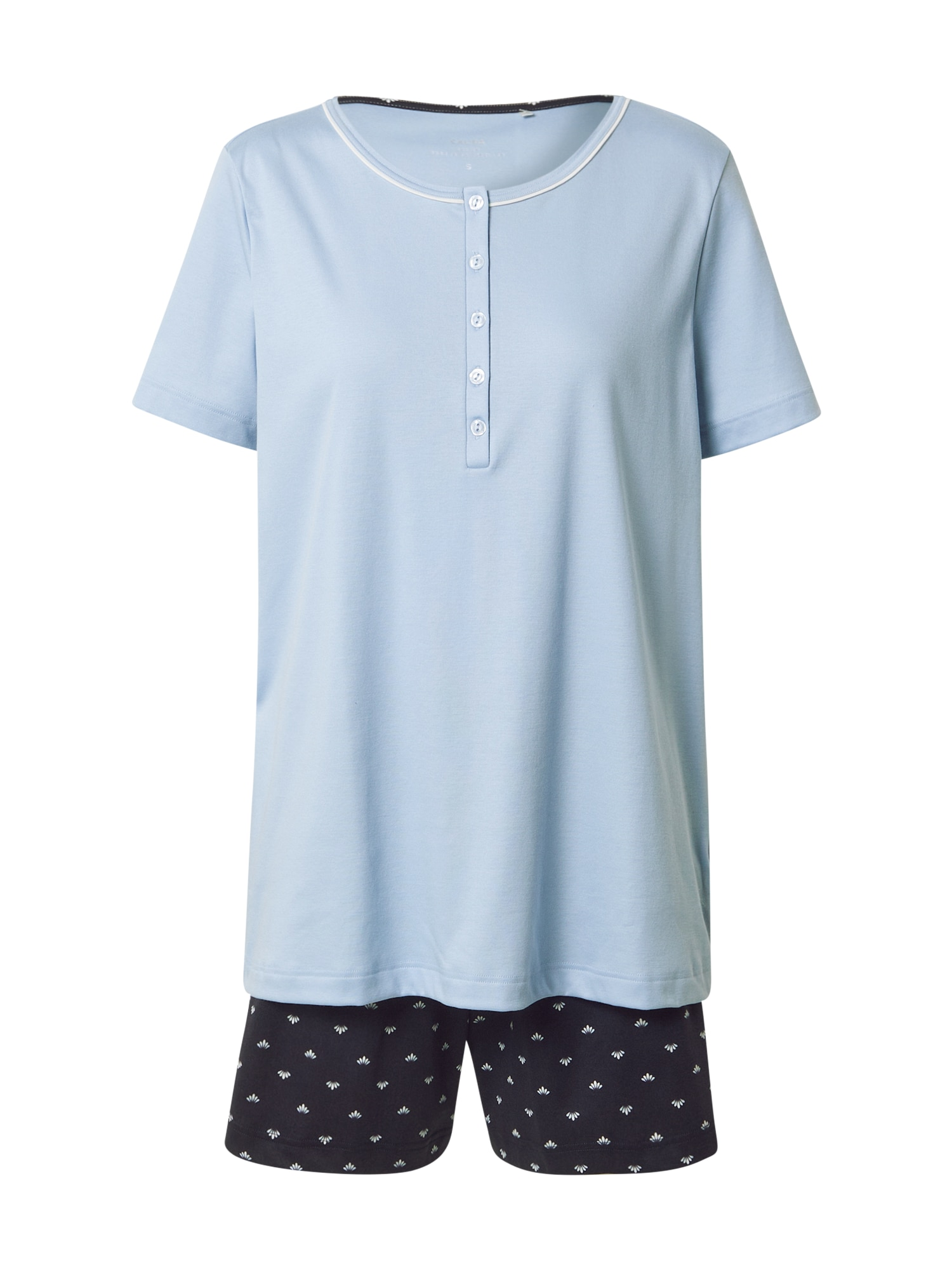 CALIDA Pižama šviesiai mėlyna / tamsiai mėlyna