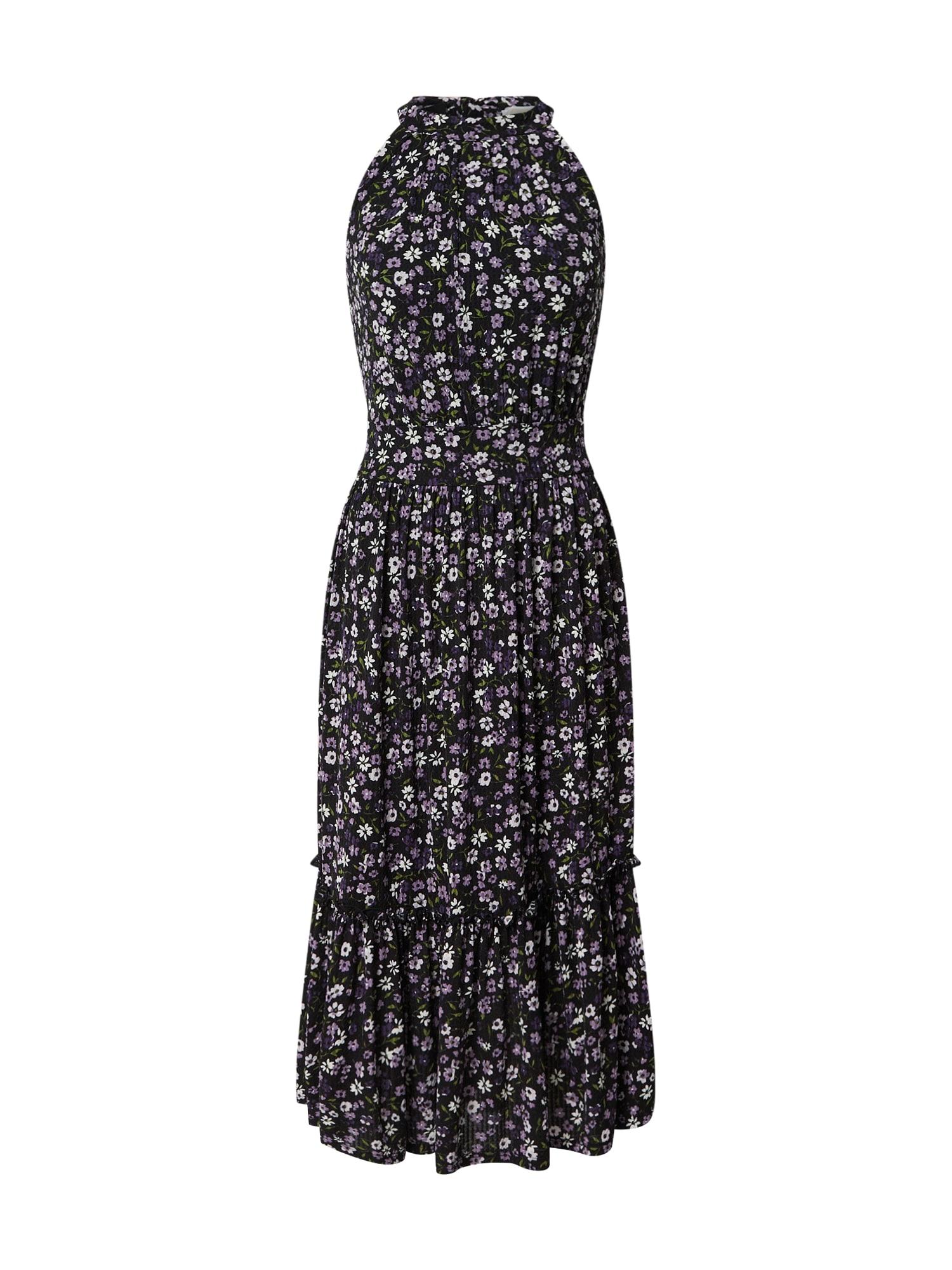 MICHAEL Michael Kors Vasarinė suknelė tamsiai mėlyna jūros spalva / balta / purpurinė / žolės žalia