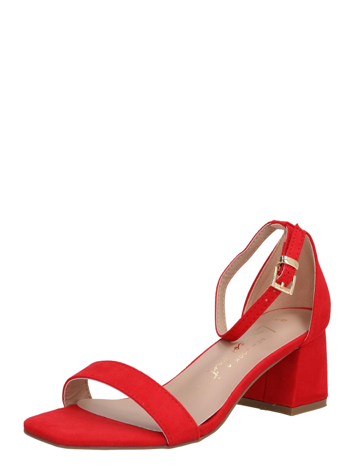 NEW LOOK Sandále 'ZANIEL'  červené