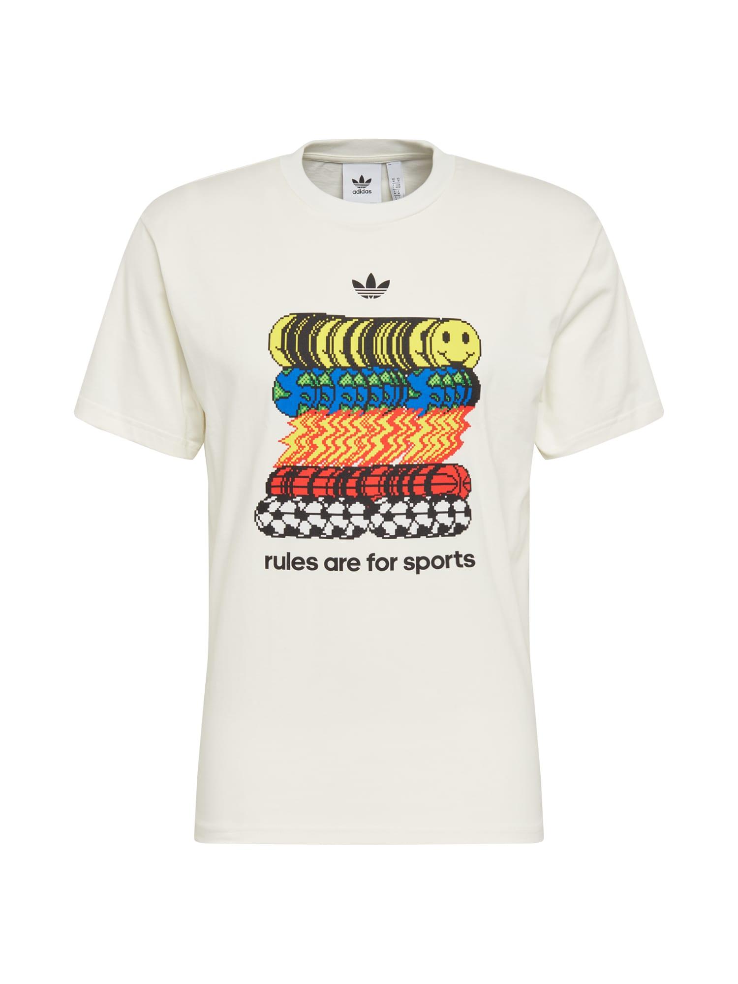 ADIDAS ORIGINALS Marškinėliai 'SPORTSRULE TEE' balta