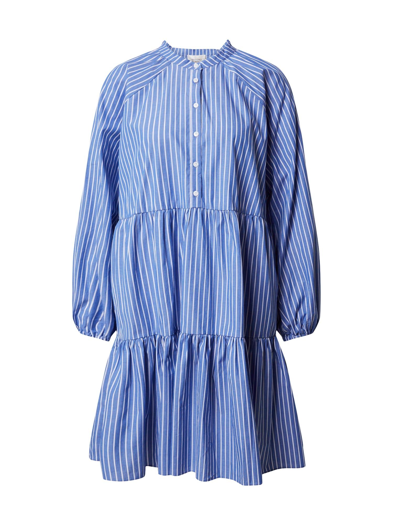 SECOND FEMALE Košeľové šaty 'Miracle'  biela / modré