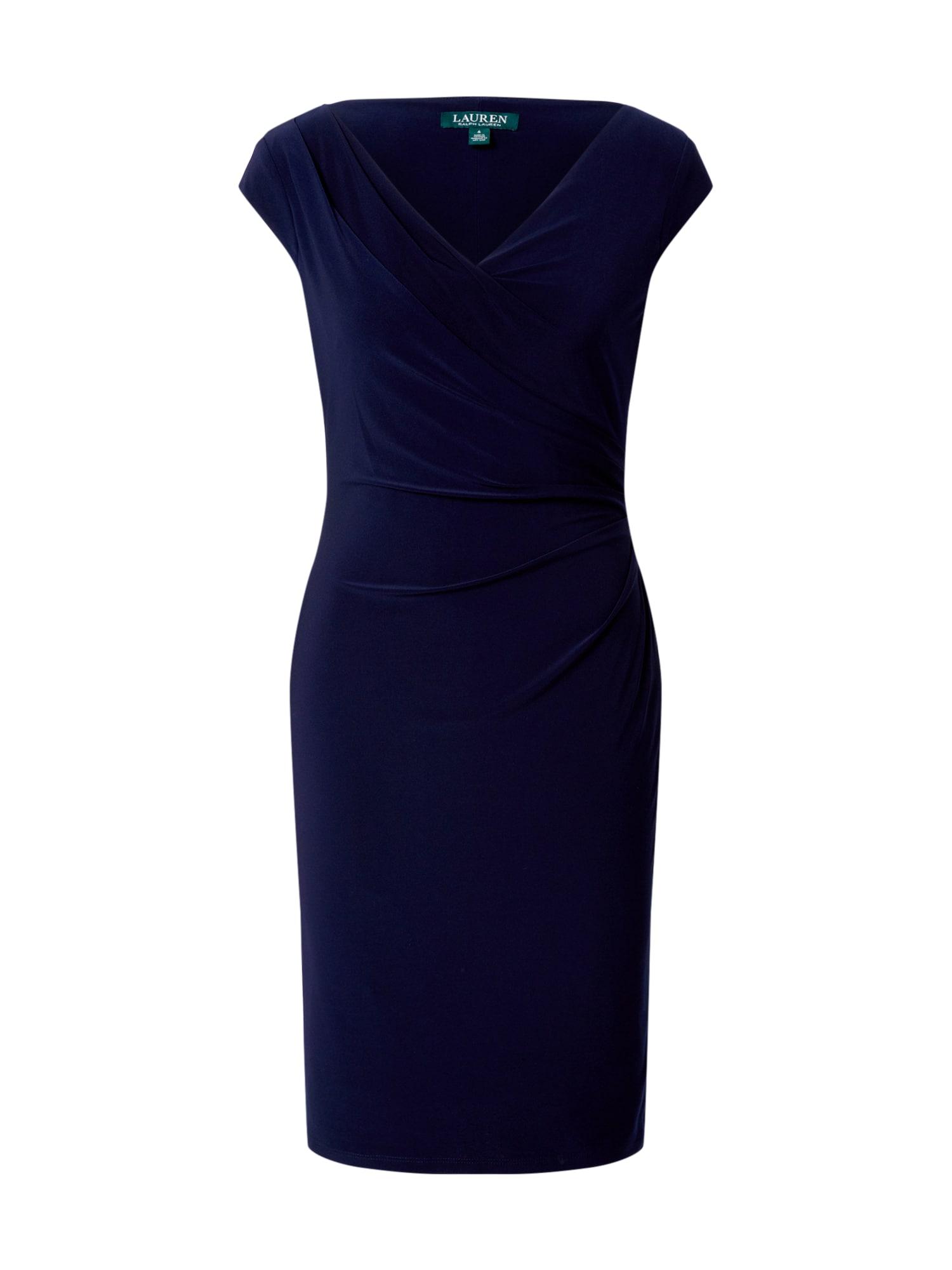 Lauren Ralph Lauren Rochie 'BRANDIE-CAP SLEEVE-DAY DRESS'  navy