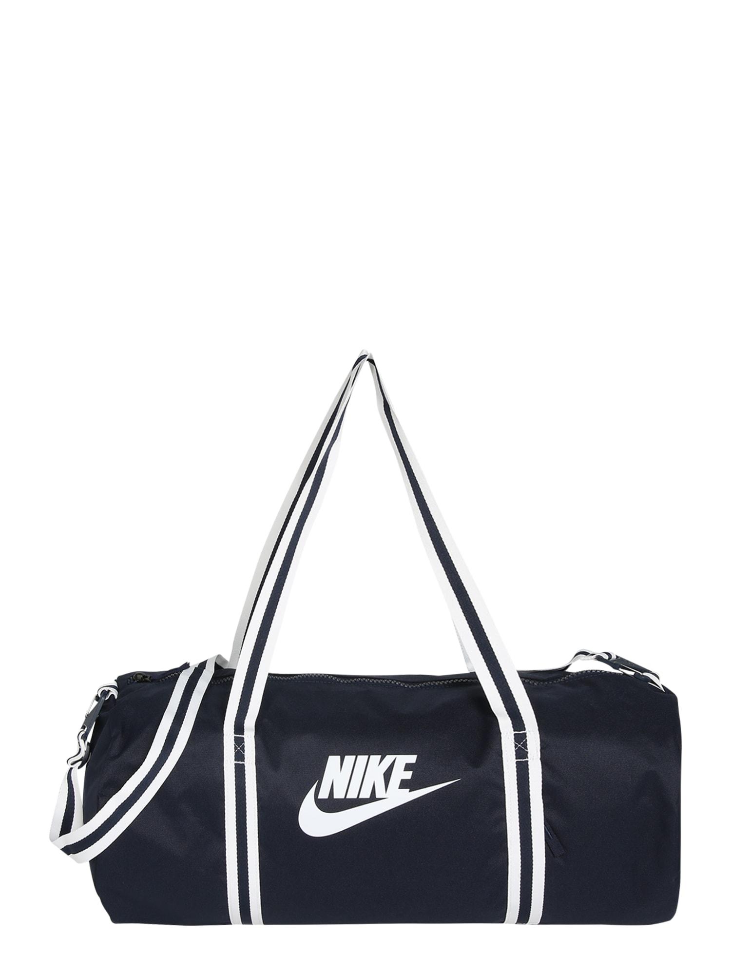 Nike Sportswear Cestovná taška 'Heritage'  biela / námornícka modrá