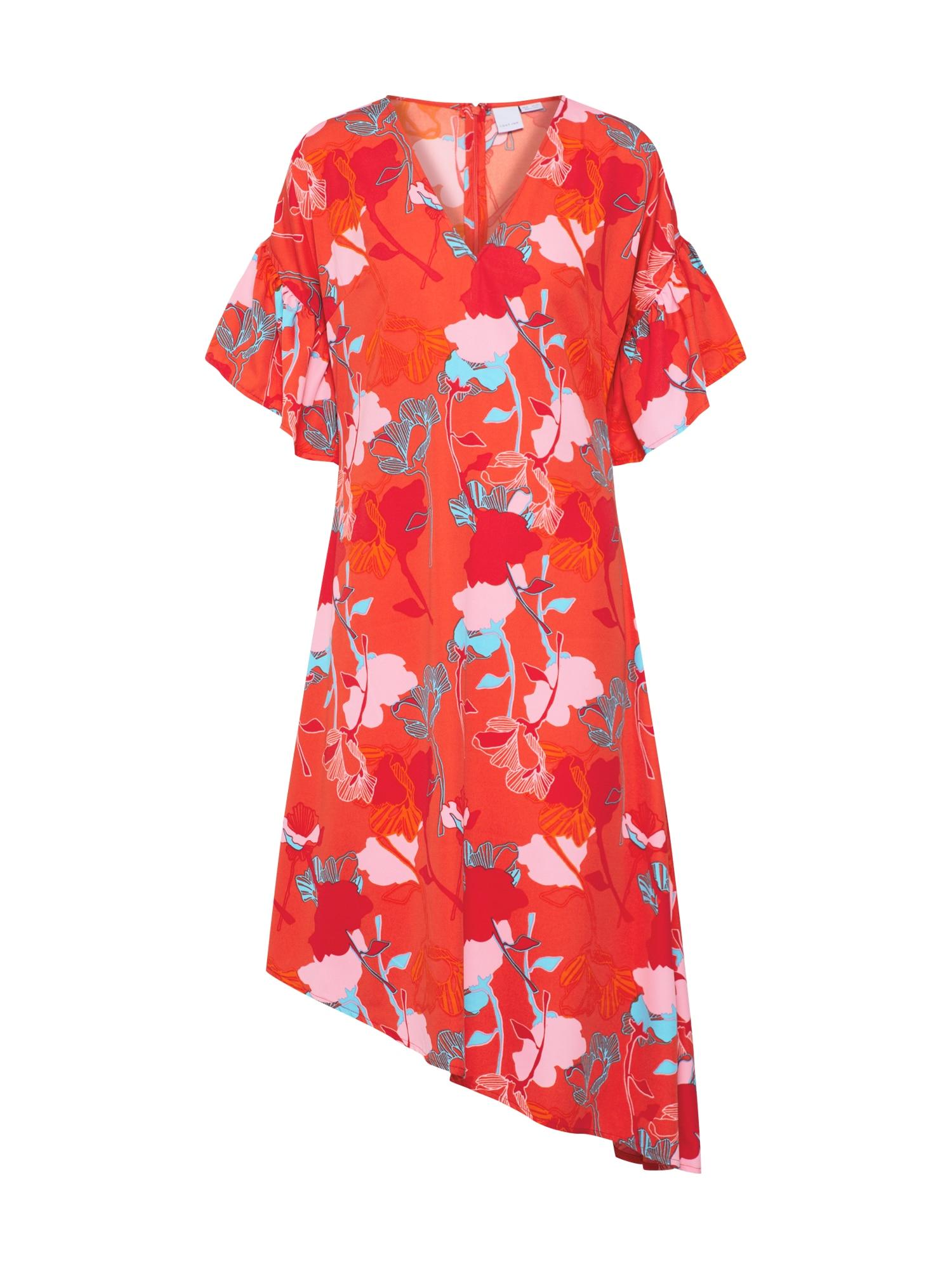 Letní šaty růžová červená Lost Ink