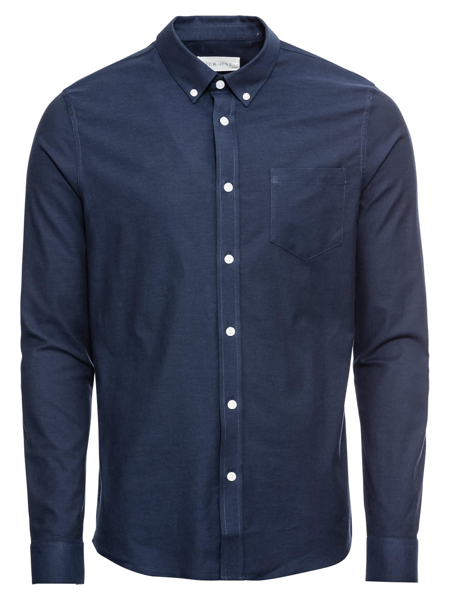 Košile tmavě modrá Pier One