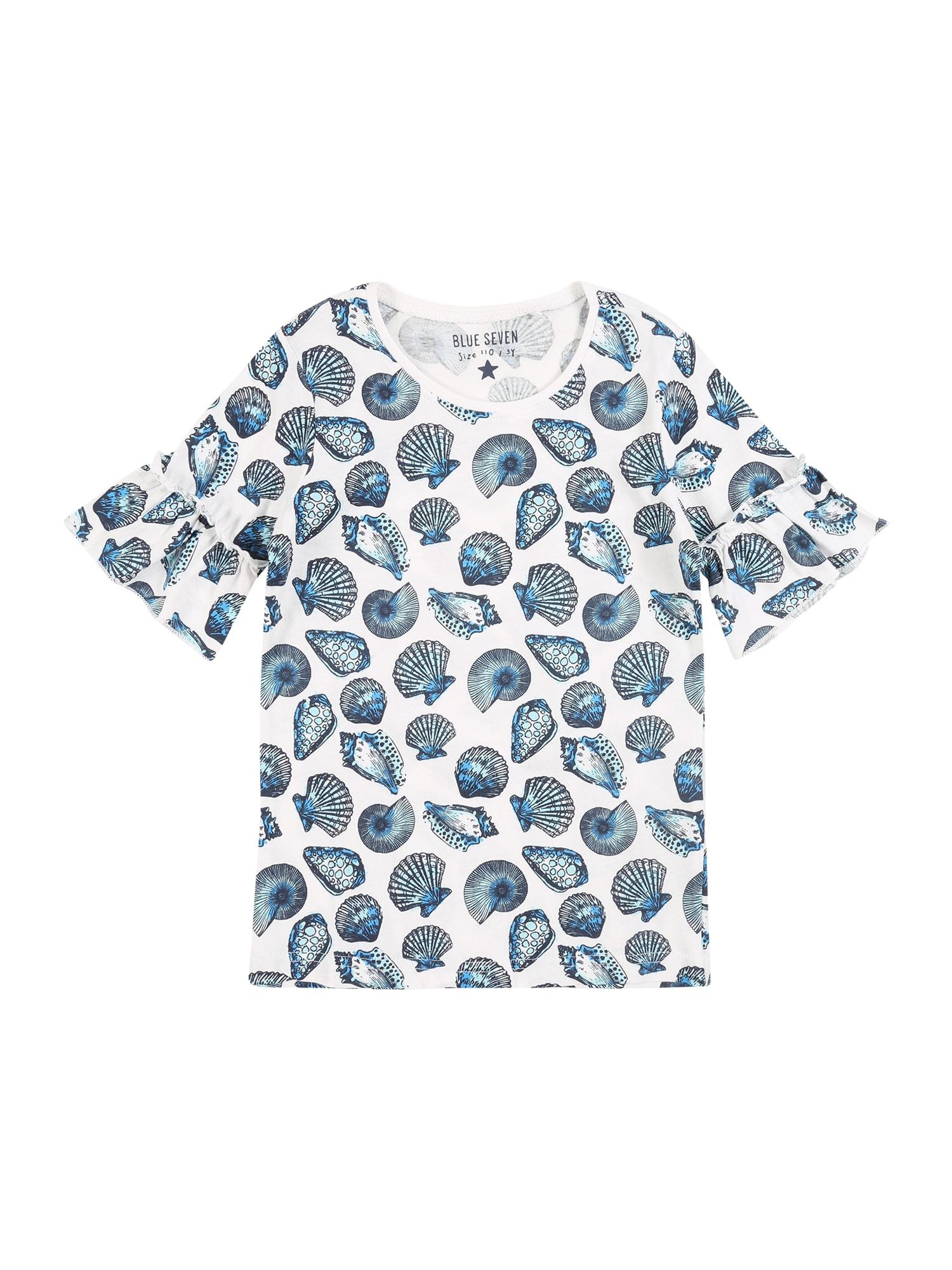 BLUE SEVEN Marškinėliai mėlyna / balta