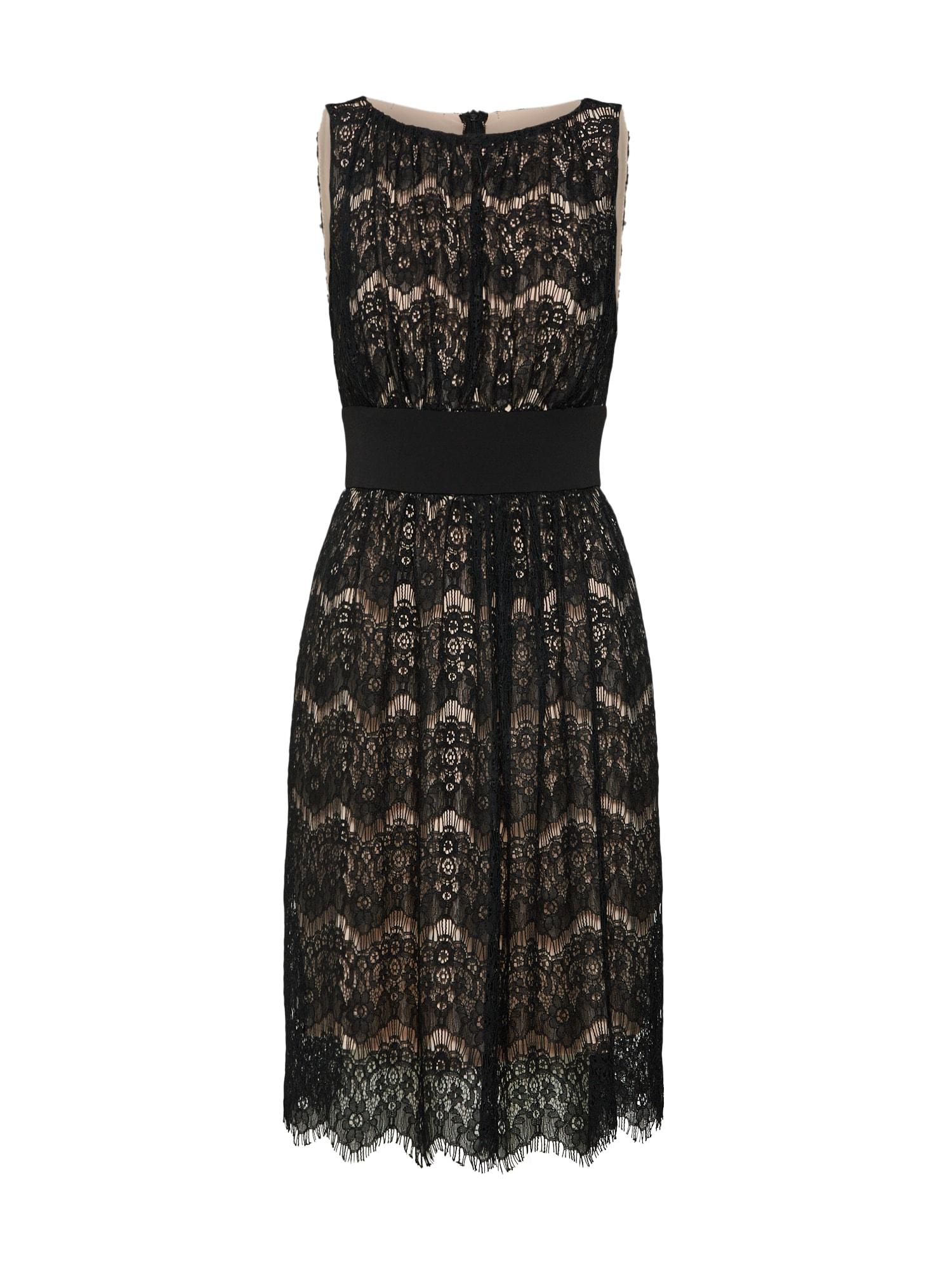 Koktejlové šaty tělová černá SWING
