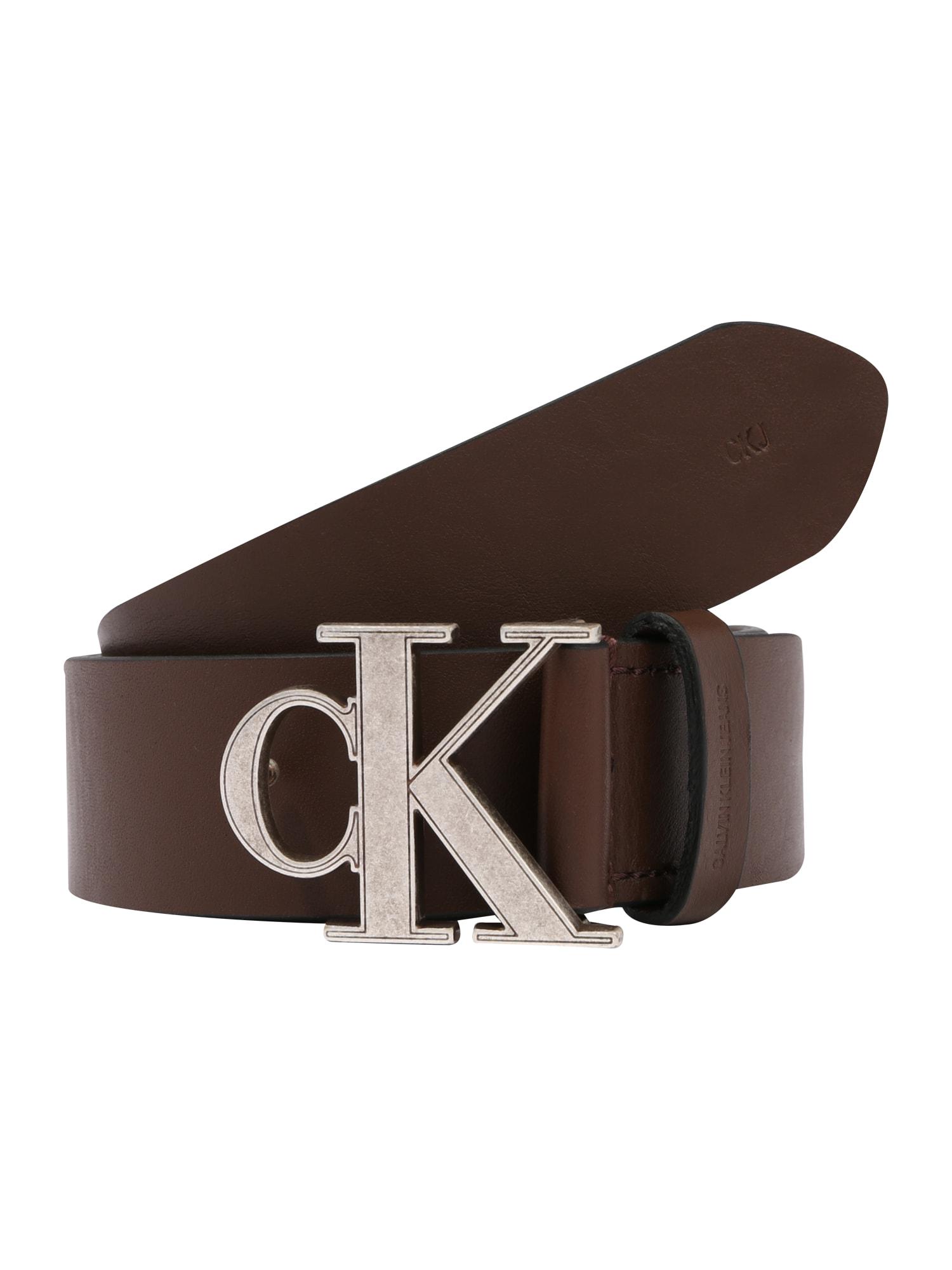 Calvin Klein Jeans Opasky 'CKJ MONO HARDWARE 35MM'  hnedé