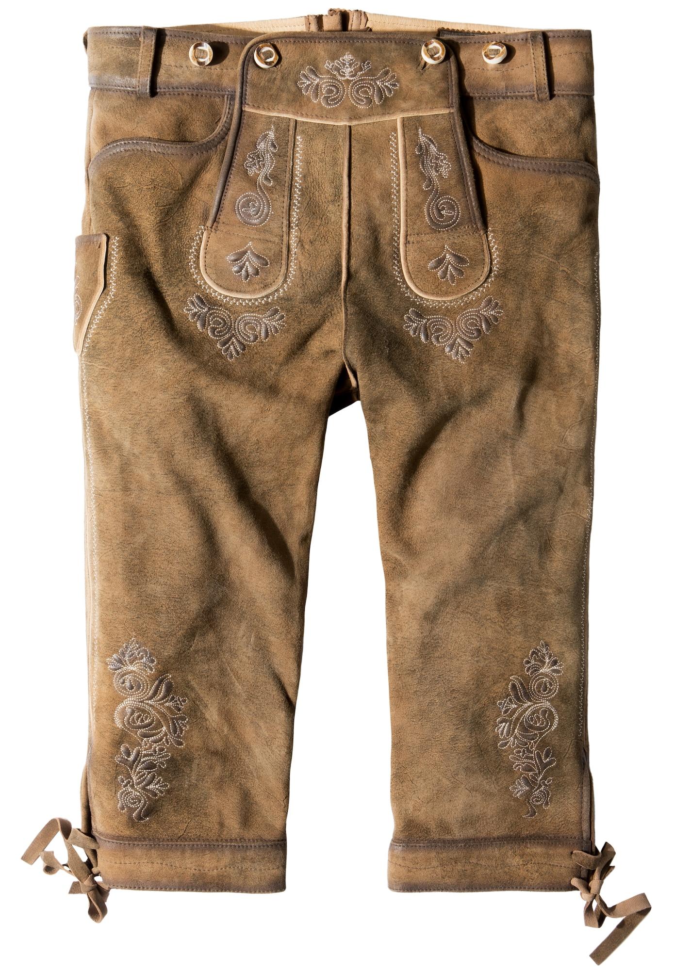 STOCKERPOINT Kelnės su tradiciniais raštais 'Justin4' ruda