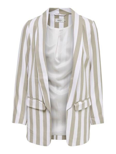 Jacken für Frauen - ONLY Blazer greige weiß  - Onlineshop ABOUT YOU
