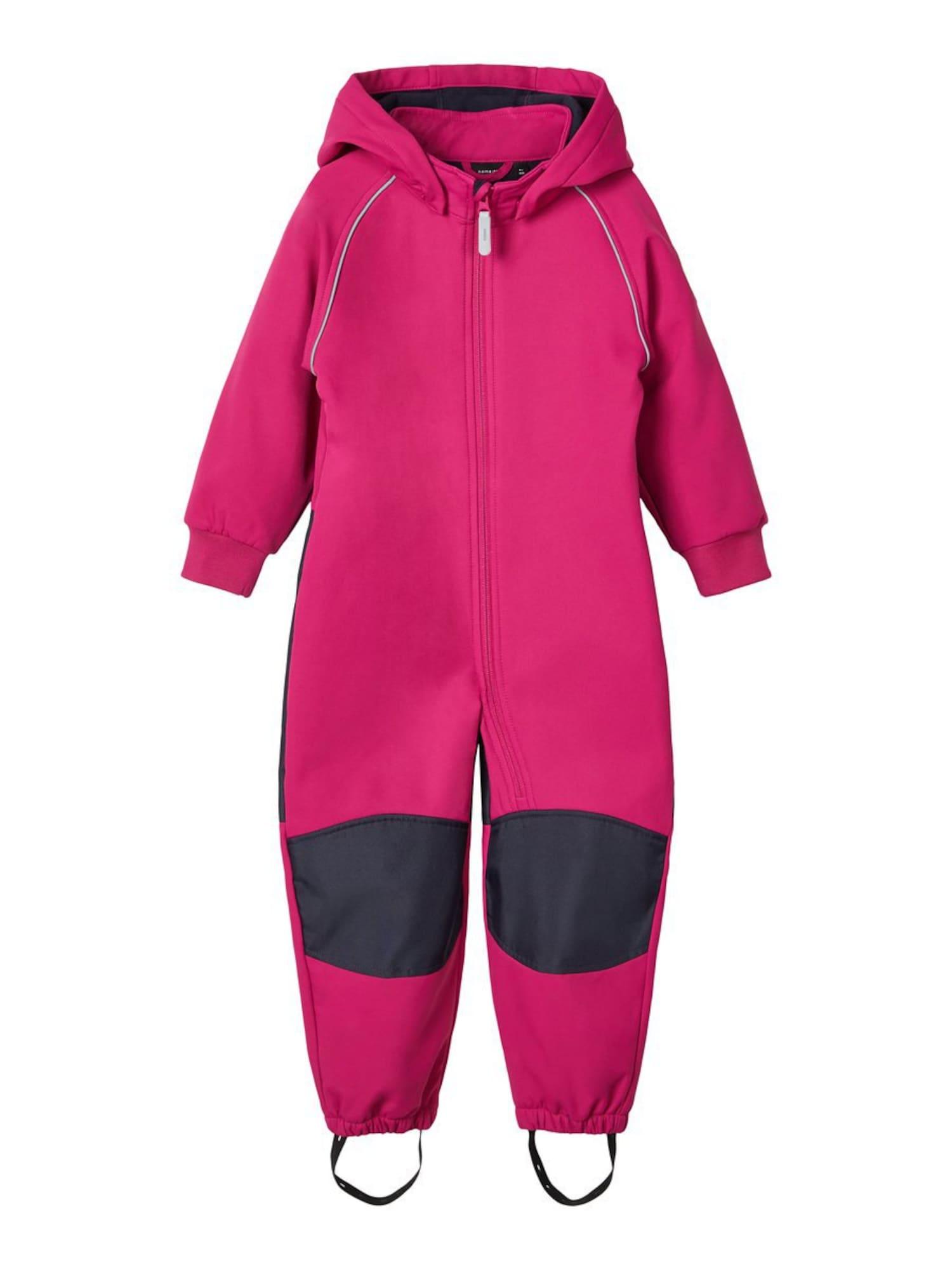 NAME IT Dalykinio stiliaus kostiumas 'Malta' juoda / rožinė