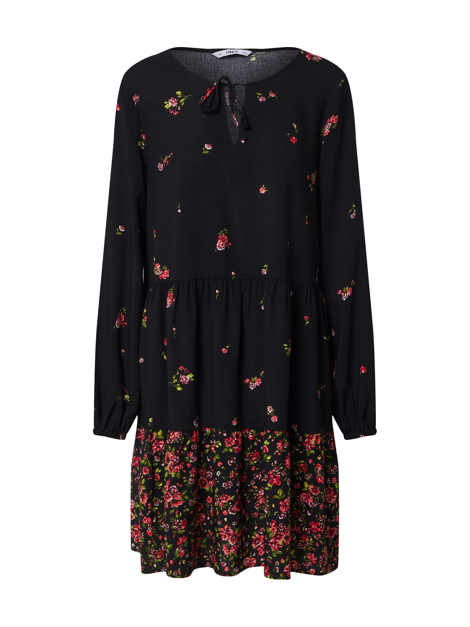 ONLY Košeľové šaty 'ALISA LIFE'  čierna / červené / zelená