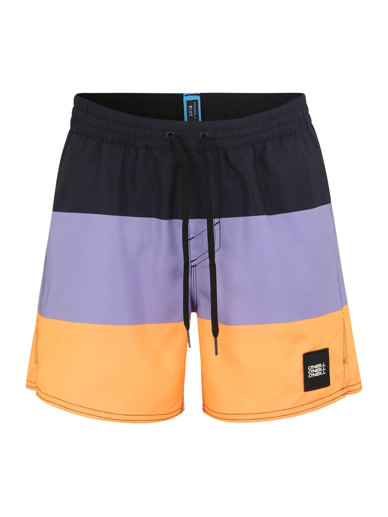 ONEILL Sportovní plavky VERT-HORIZON fialová oranžová černá O'NEILL