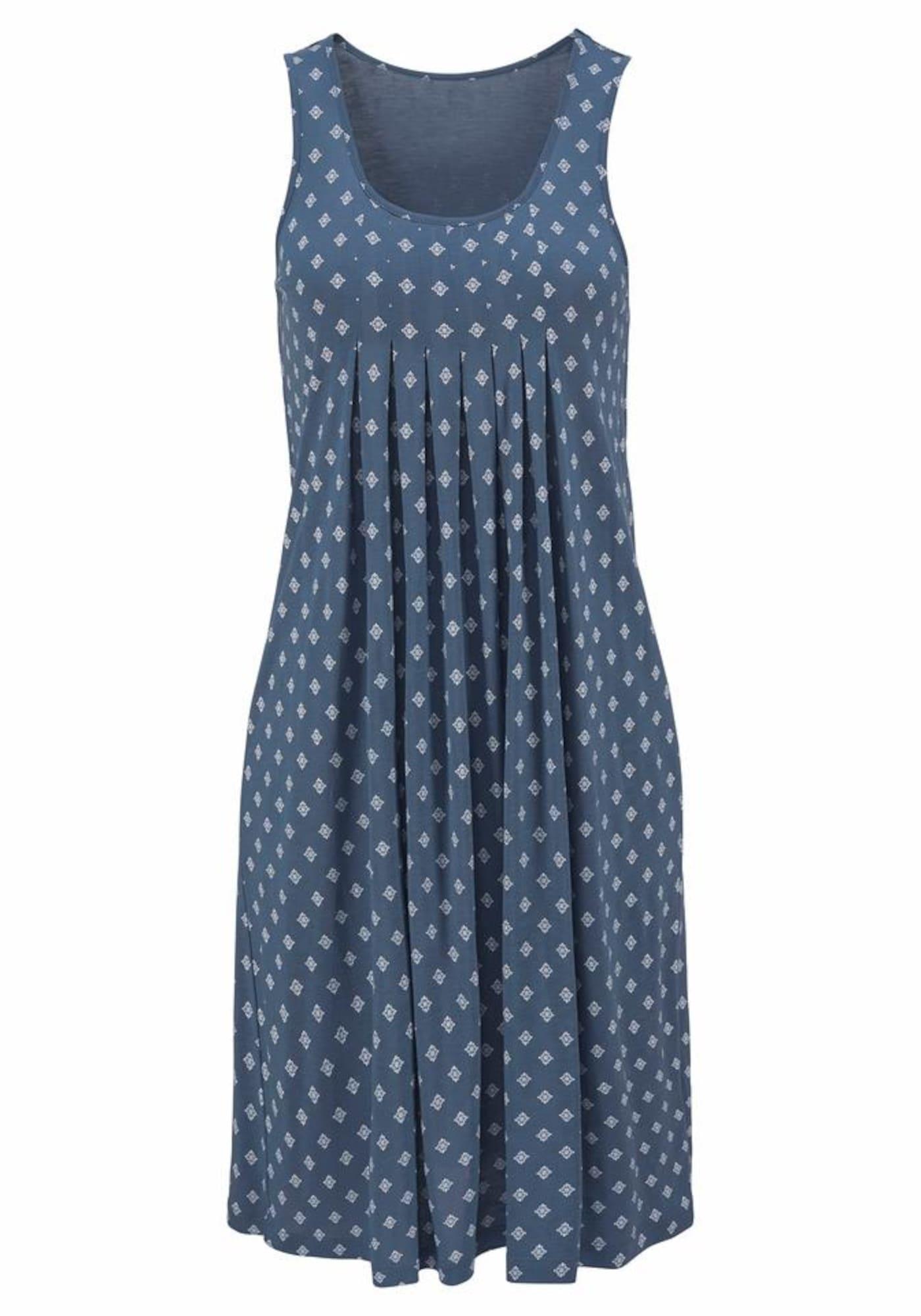 BEACH TIME Paplūdimio suknelė mėlyna / balta