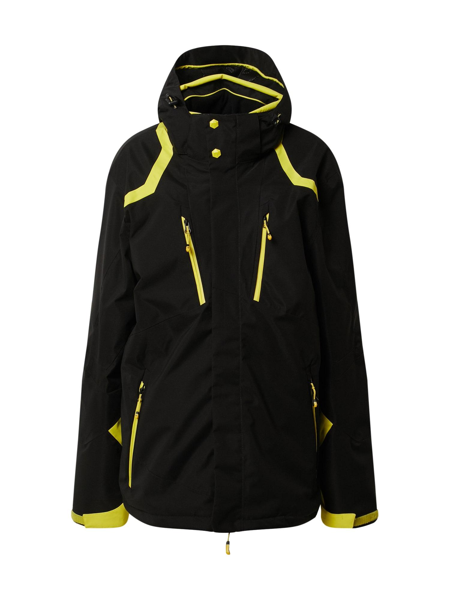 KILLTEC Sportovní bunda 'Savognin'  žlutá / černá