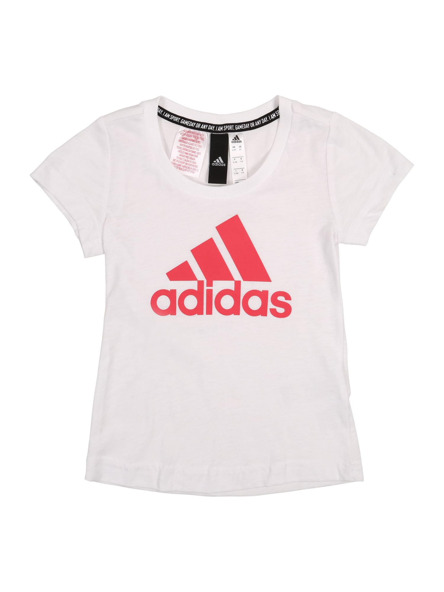 ADIDAS PERFORMANCE Sportiniai marškinėliai 'YG MH BOS TEE' rožinė / balta