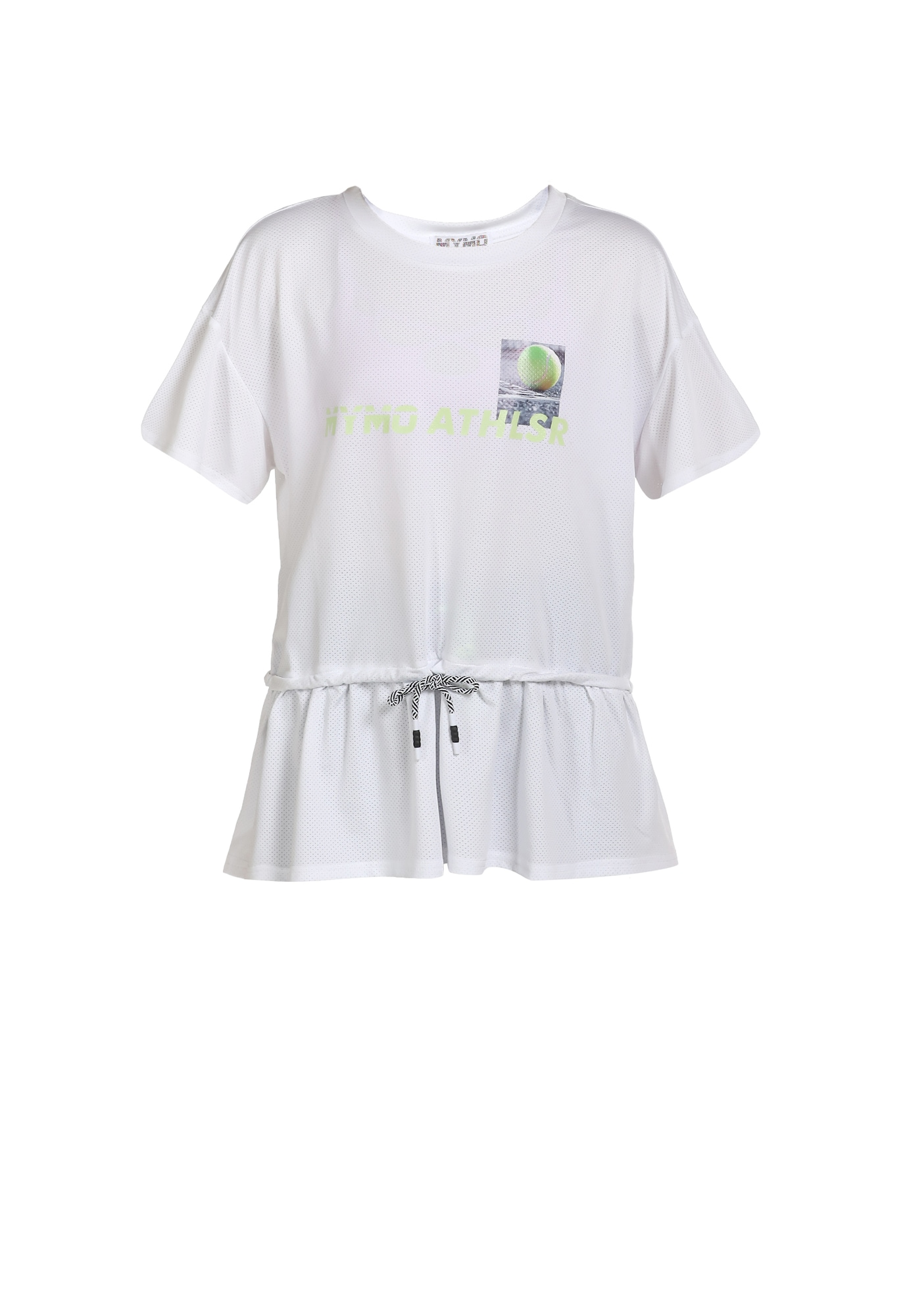myMo ATHLSR Sportiniai marškinėliai balta / kivių spalva / pilka