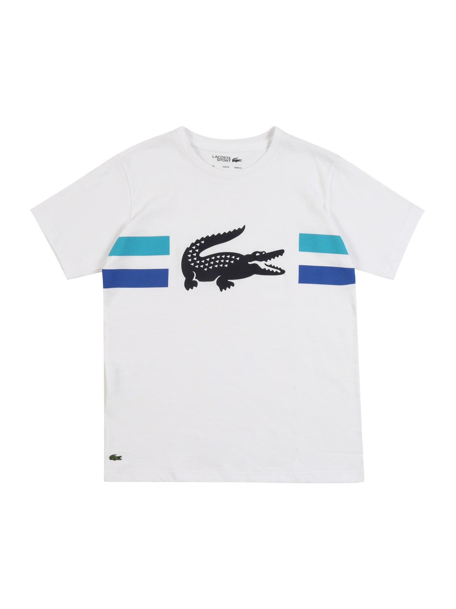 LACOSTE Marškinėliai balta / juoda / mėlyna