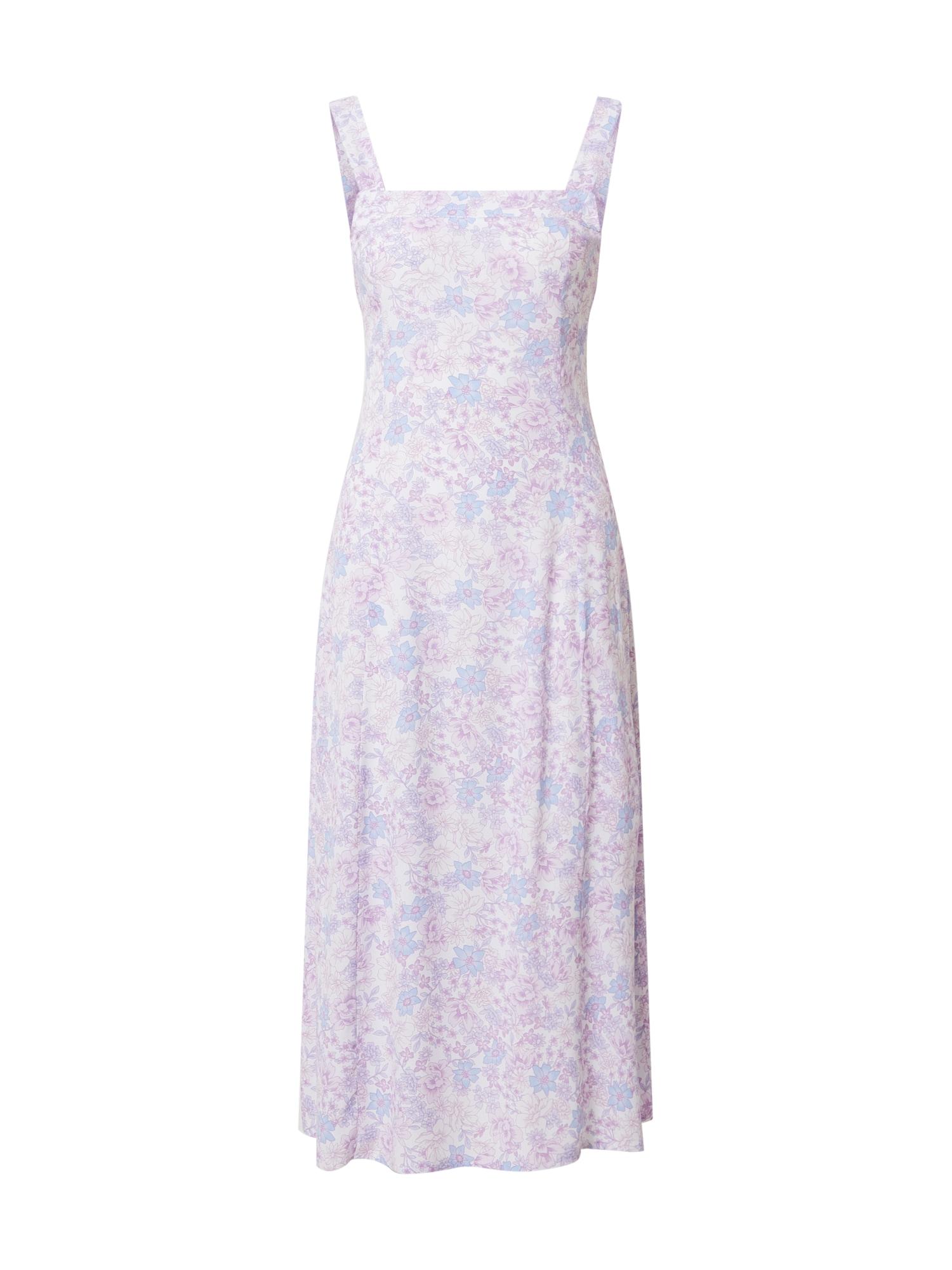 Cotton On Letné šaty 'MADDY'  fialová / biela / svetlomodrá