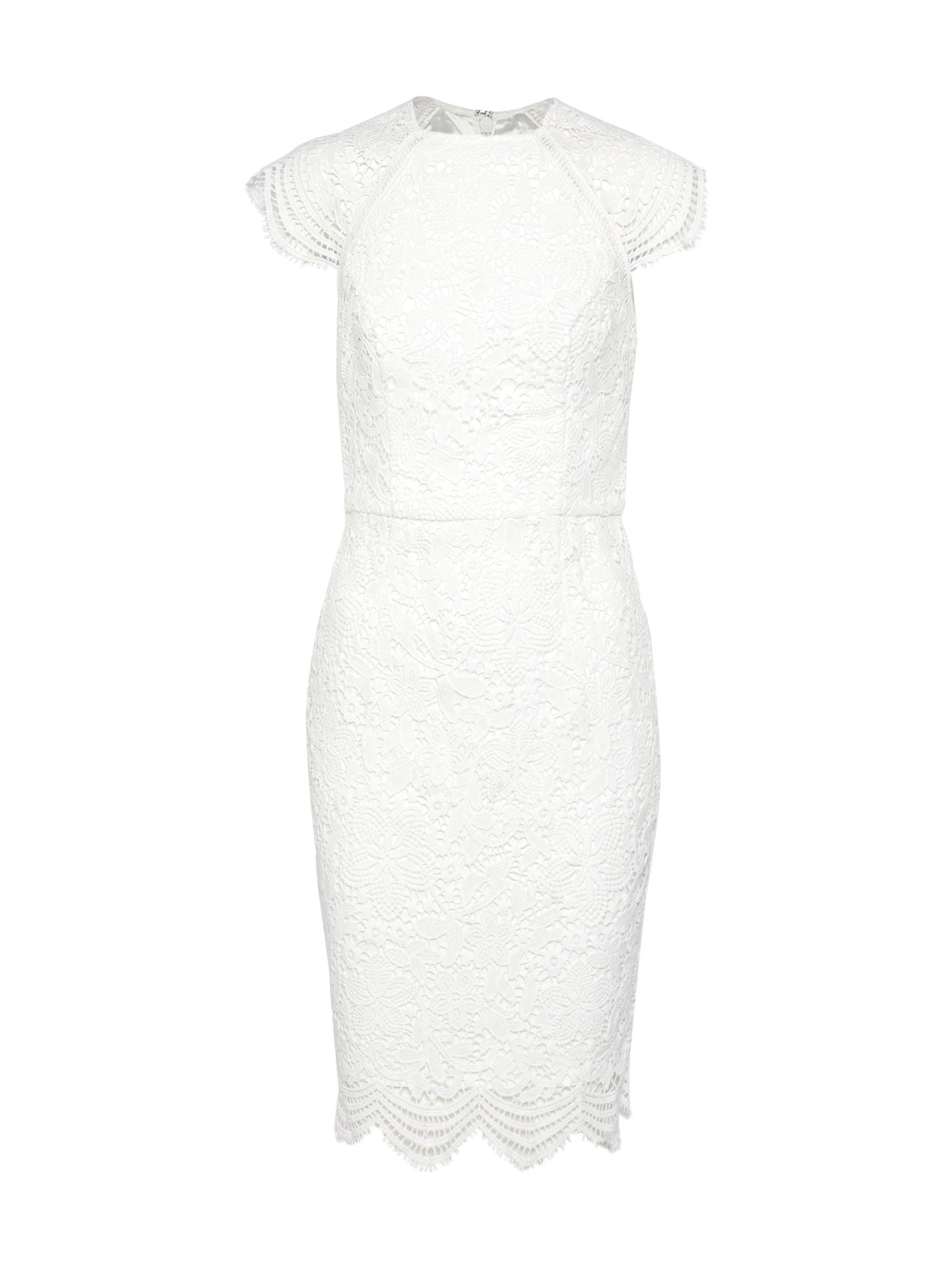 Koktejlové šaty perlově bílá Chi Chi London