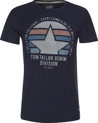 TOM TAILOR DENIM T-Shirt 'crewneck tee with frontartwork'
