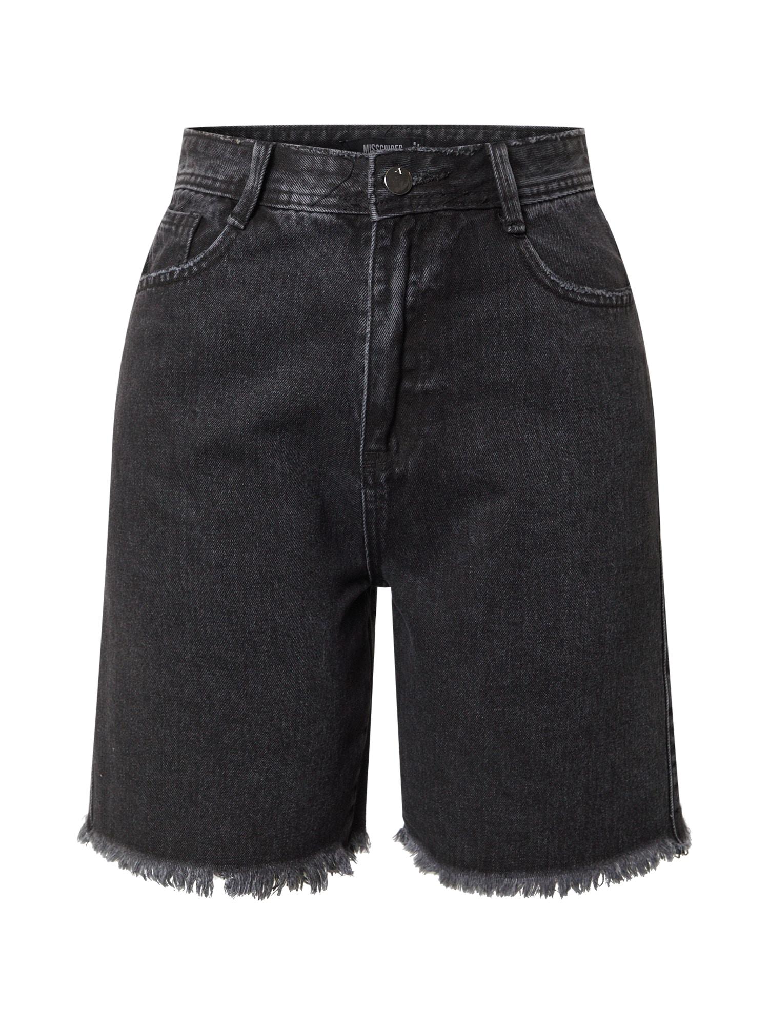 Missguided Džinsai juodo džinso spalva