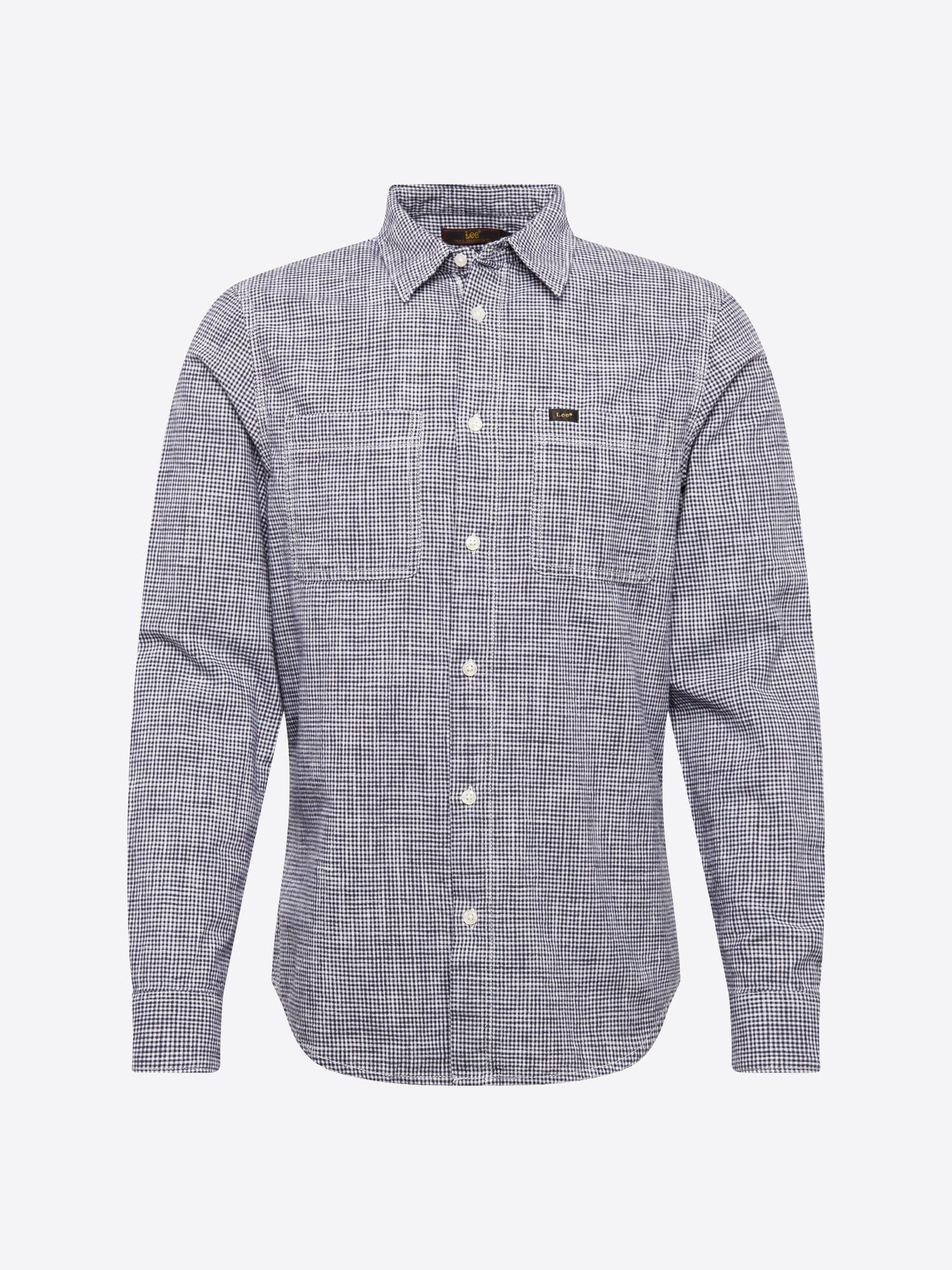 Heren Overhemd Met Drukknopen.Lee Heren Overhemd Worker Shirt Royal Blue Koningsblauw Zwart Shop