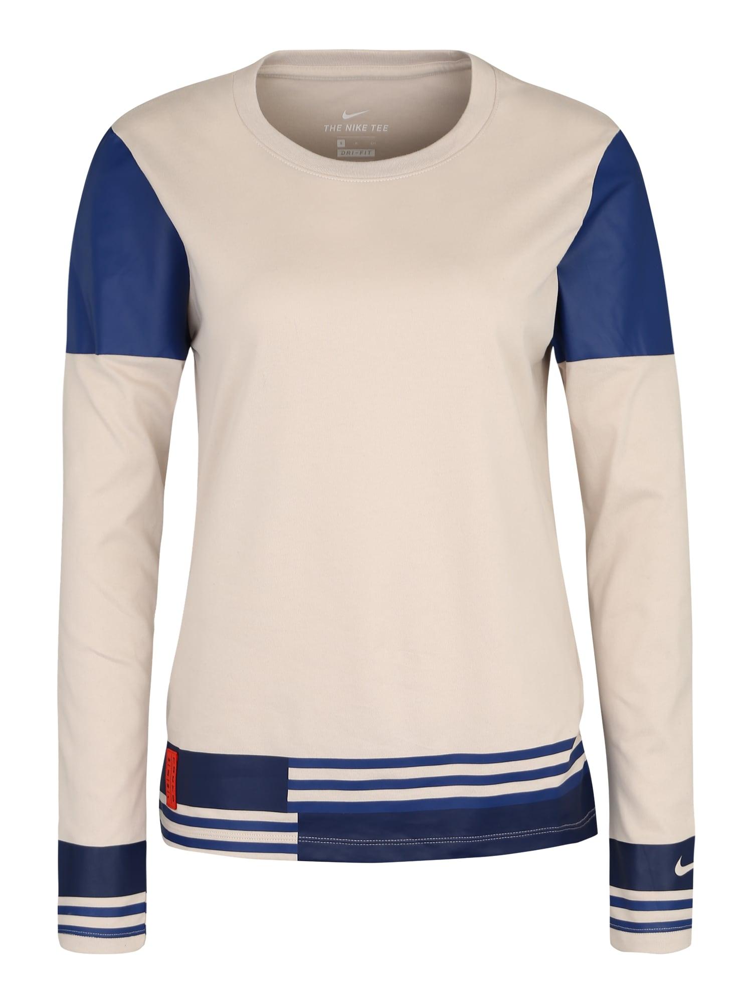 Funkční tričko W NK DRY TEE TOKYO LS béžová NIKE