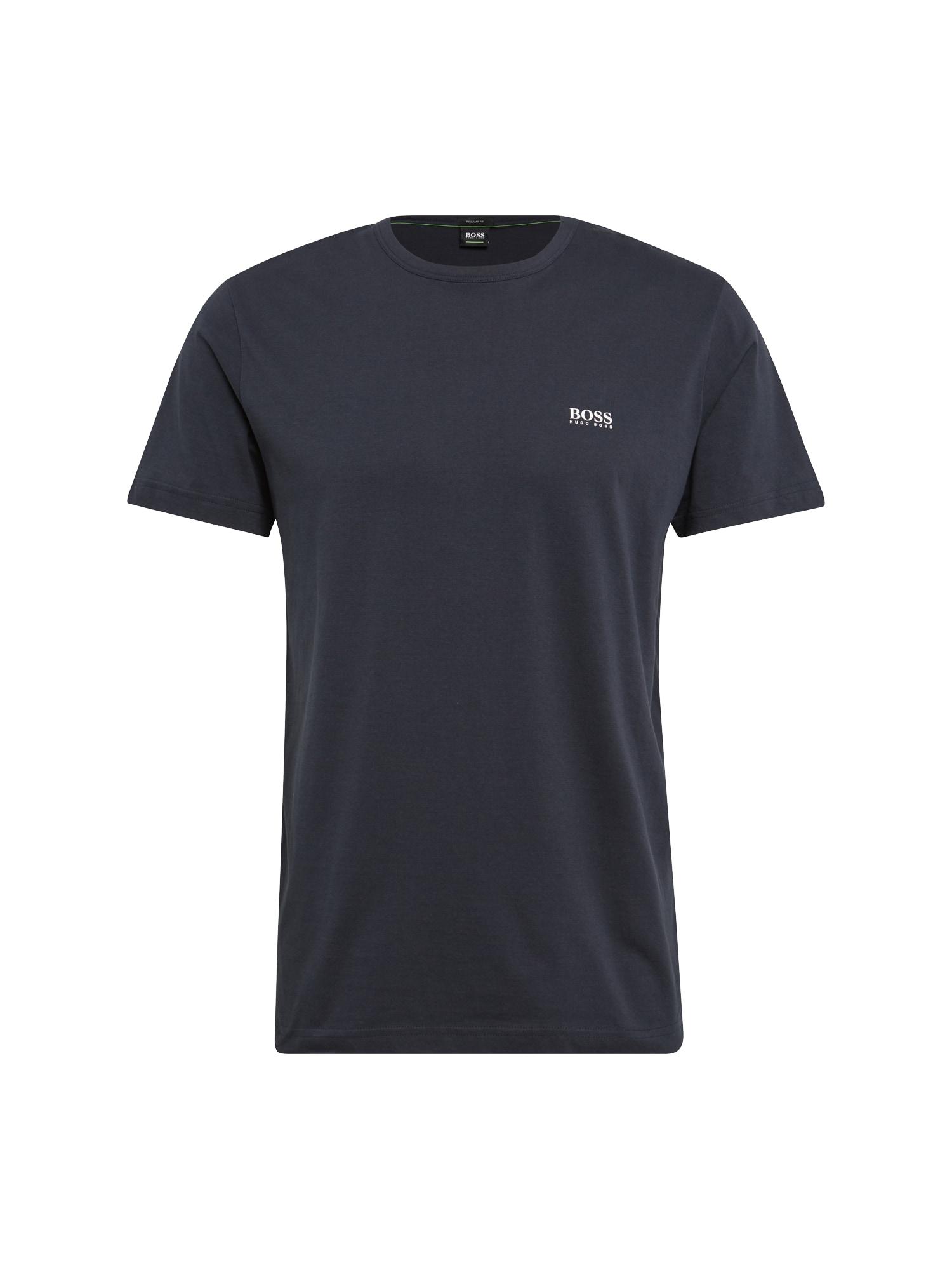 BOSS Marškinėliai tamsiai mėlyna