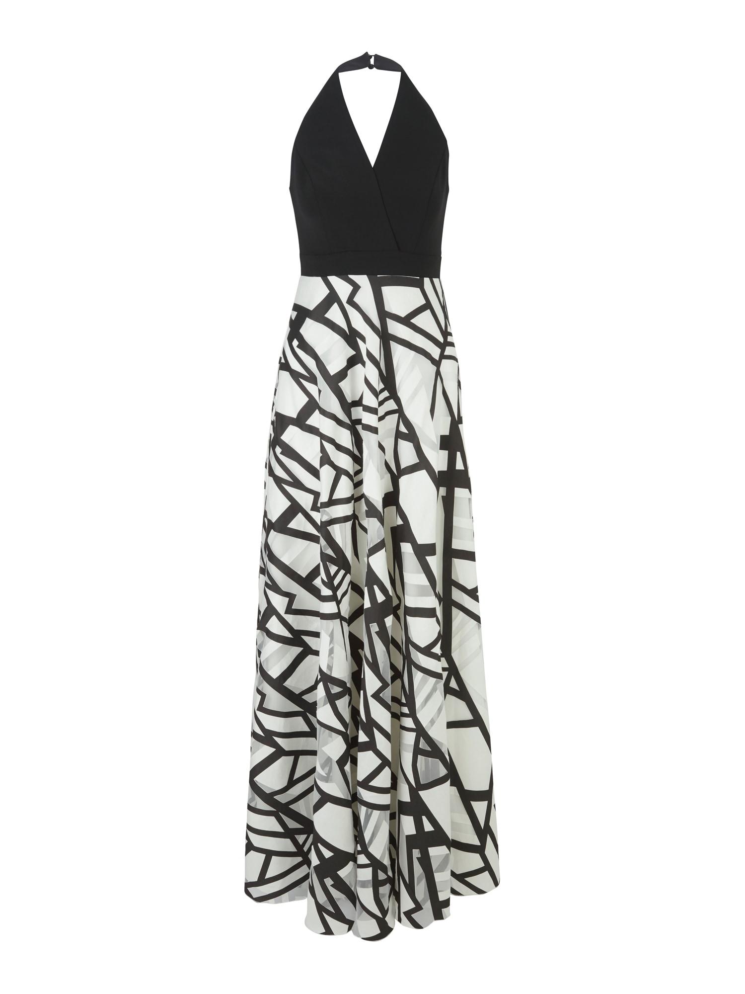 heine Vakarinė suknelė balta / juoda