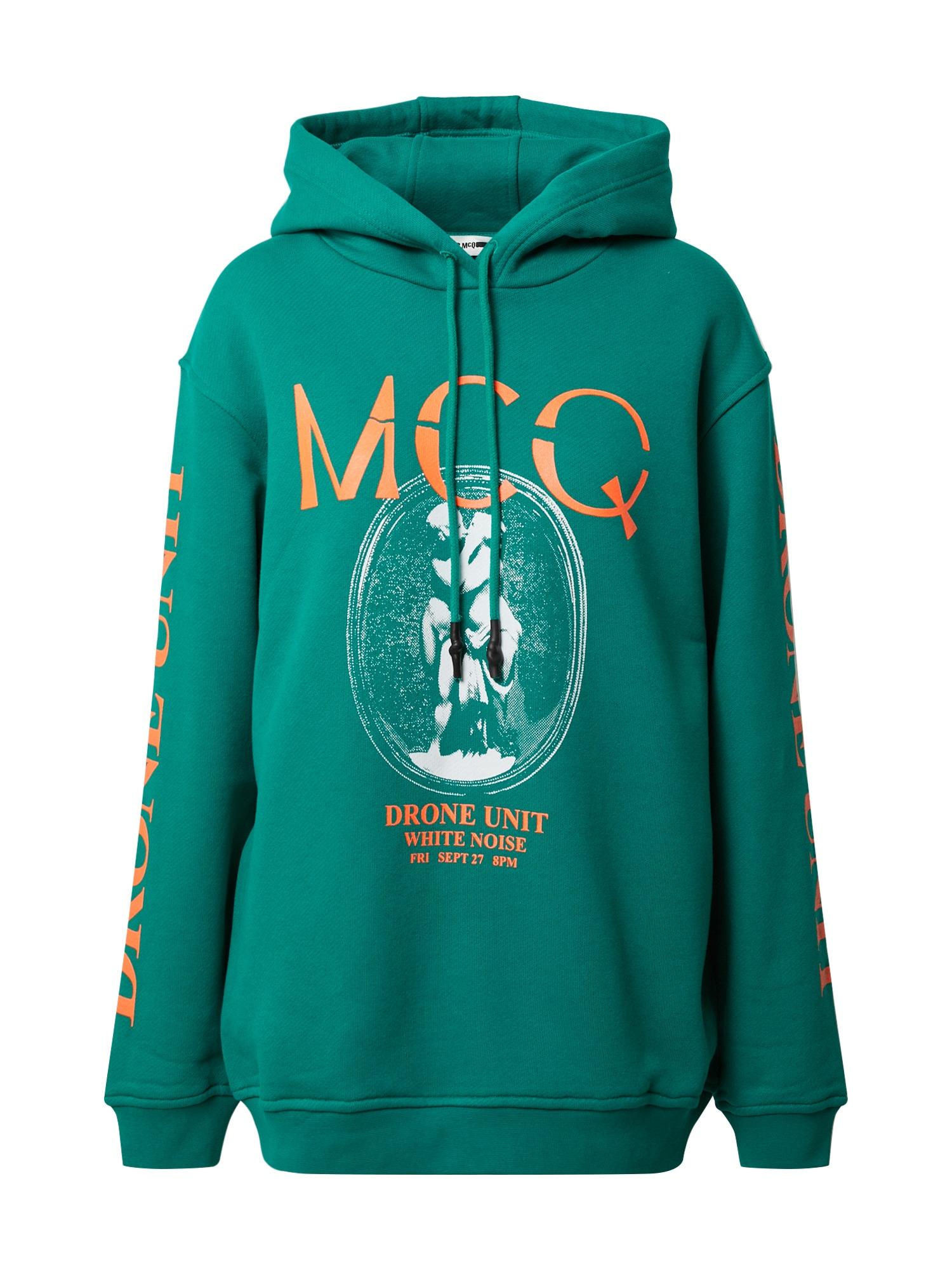McQ Alexander McQueen Megztinis be užsegimo 'BOYFRIEND HOODIE' žalia