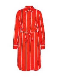 Damen Y.A.S Blusenkleid LILLO orange,  rot,  weiß | 05713731946381