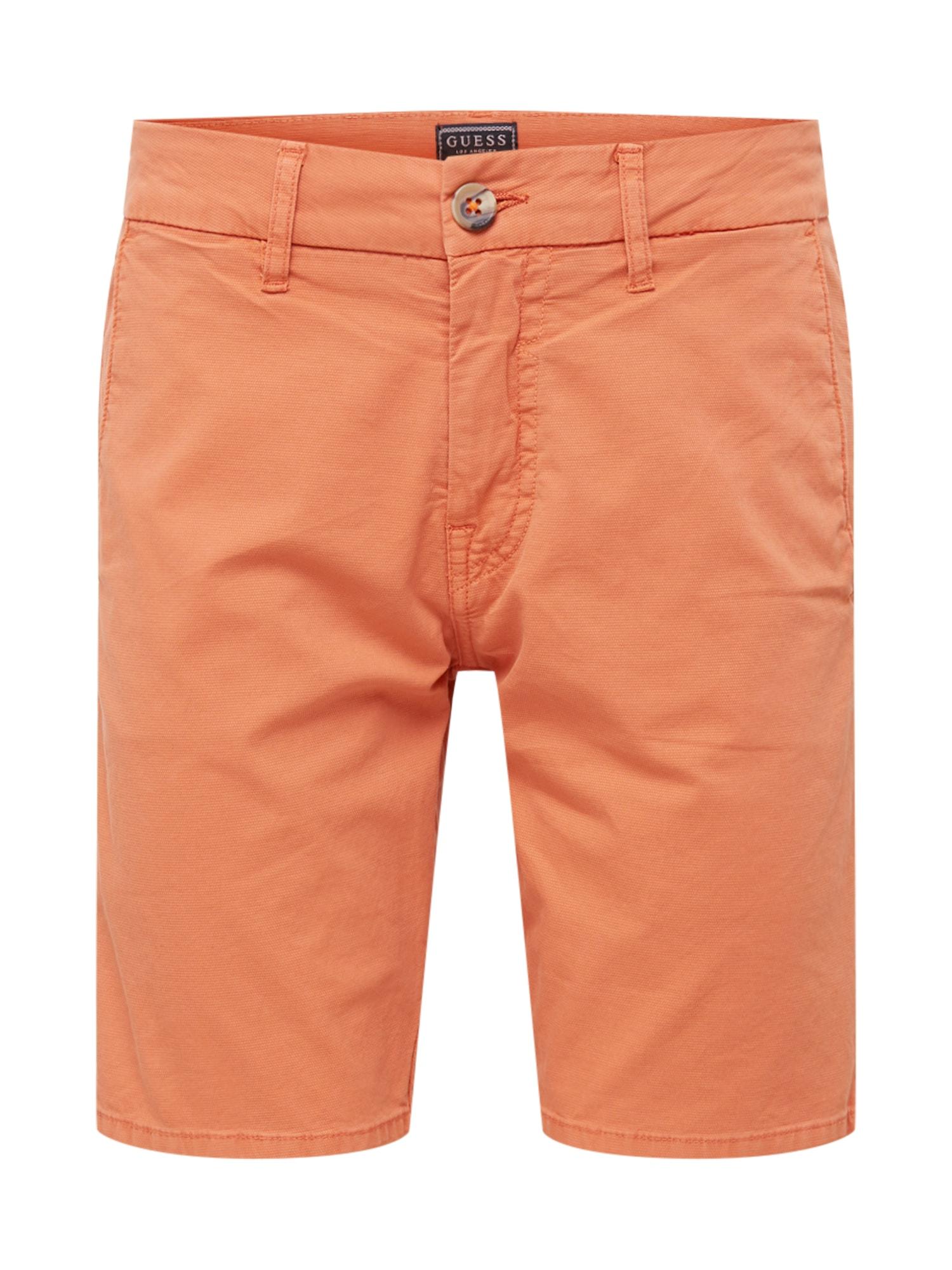 GUESS Chino stiliaus kelnės 'DANIEL' oranžinė-raudona