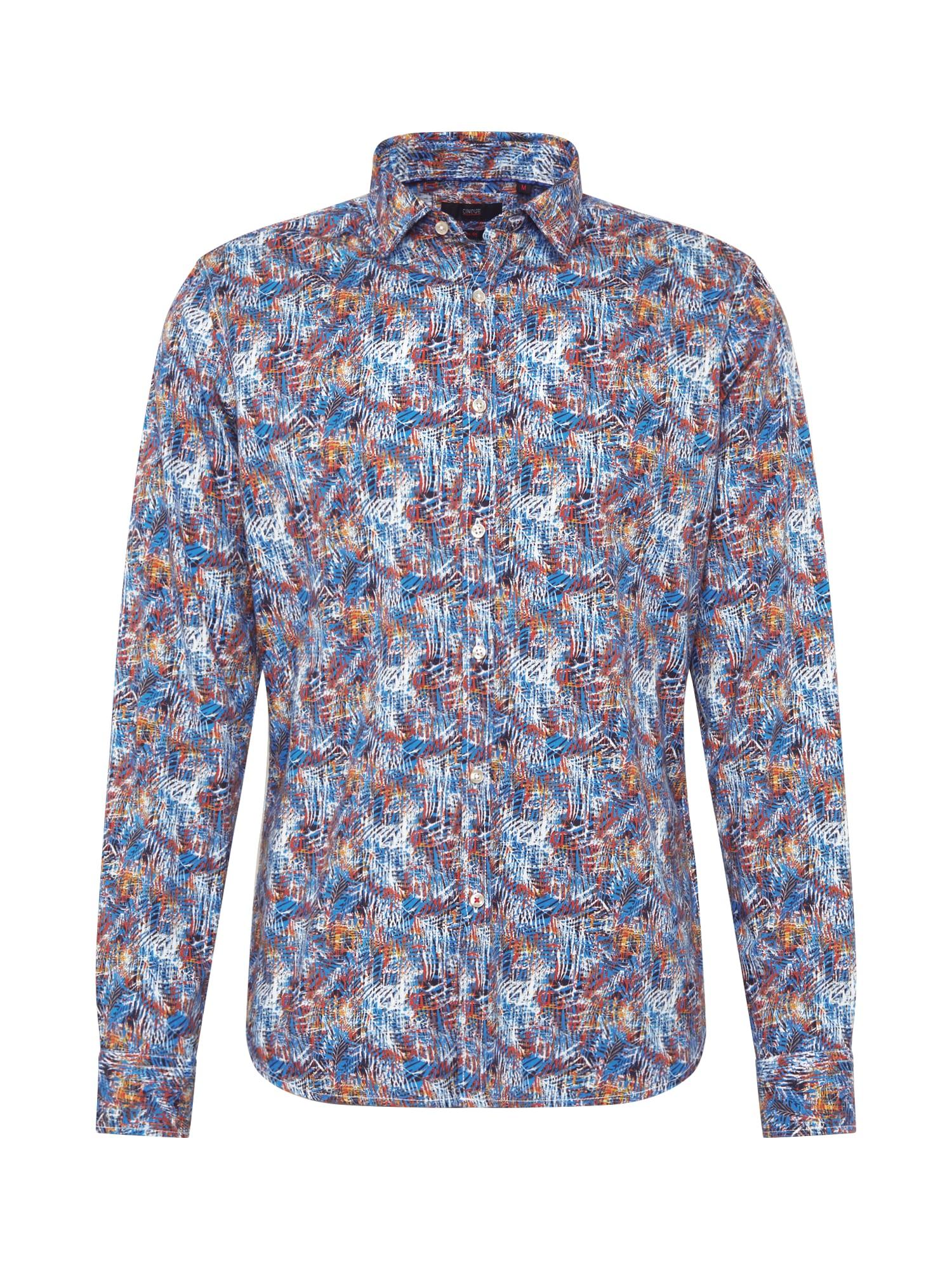 CINQUE Dalykiniai marškiniai 'CISPUKY' šviesiai mėlyna / tamsiai mėlyna / ugnies raudona
