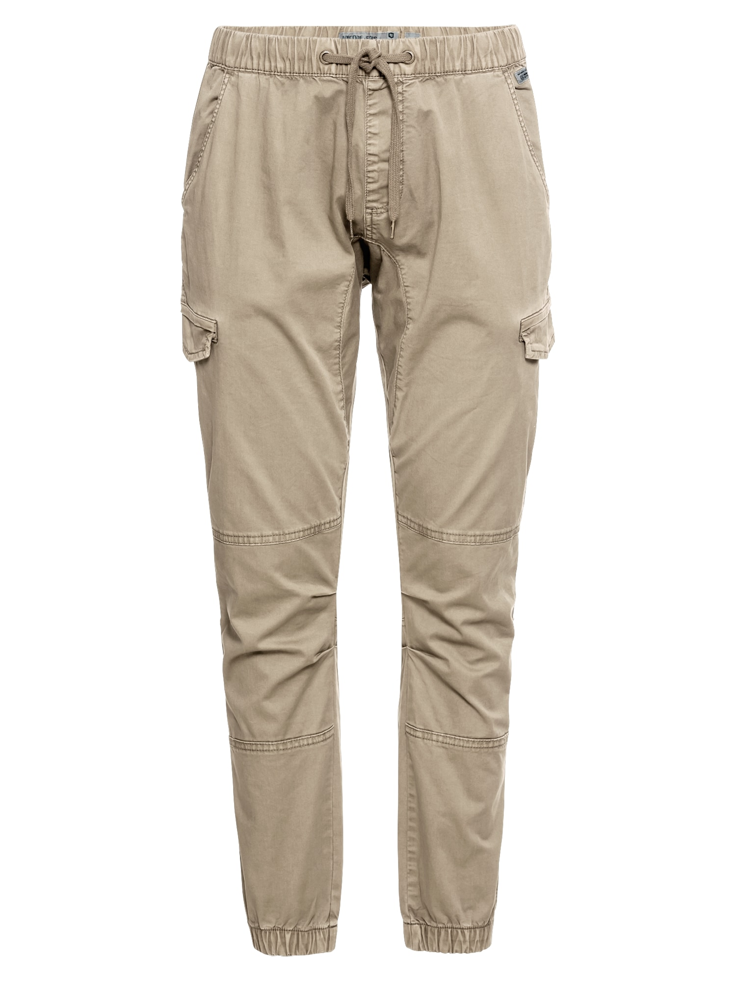 INDICODE JEANS Laisvo stiliaus kelnės 'Levy' kremo