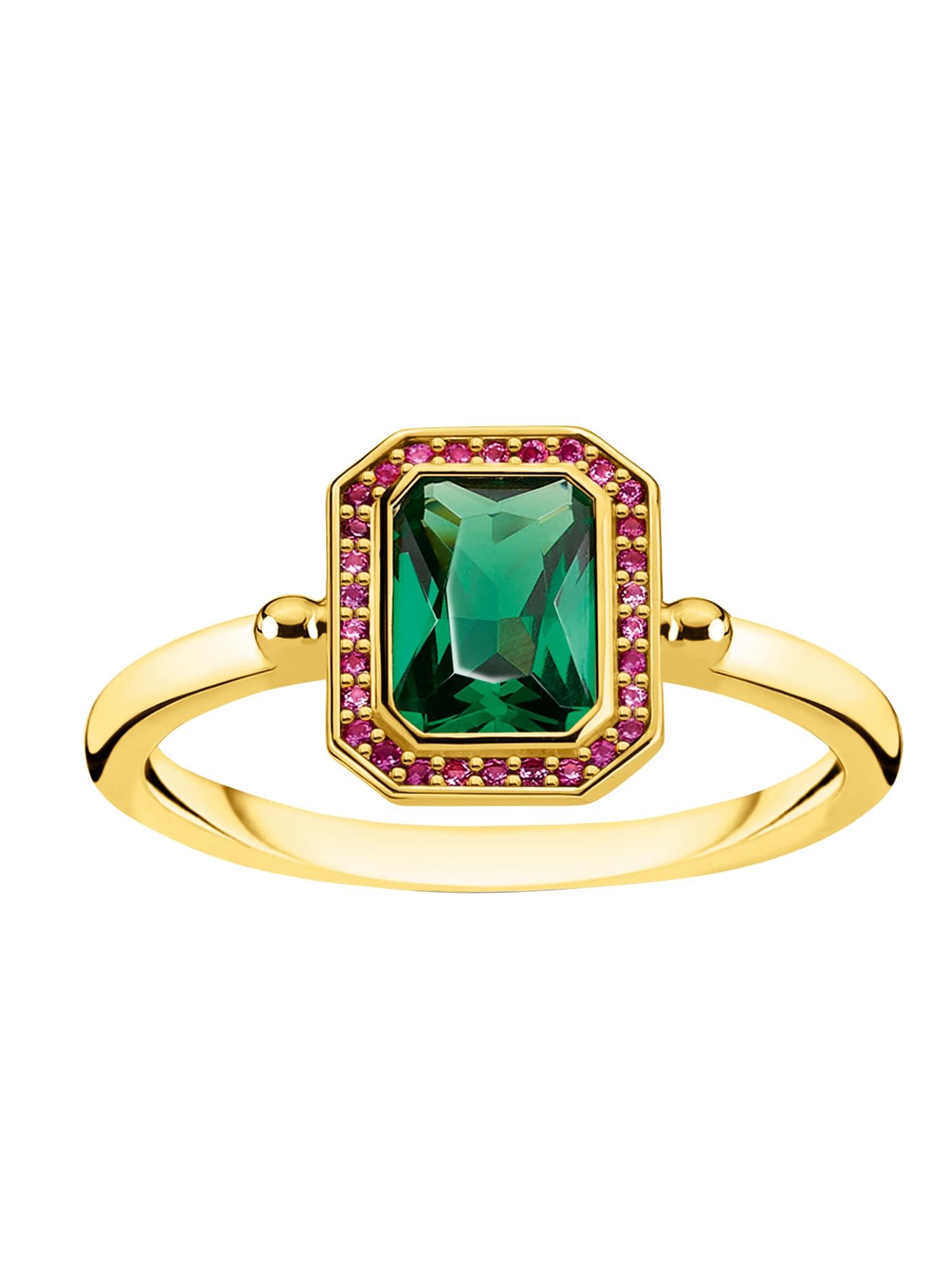 Damen Thomas Sabo Ring blau,  rot, gold | 04051245452006