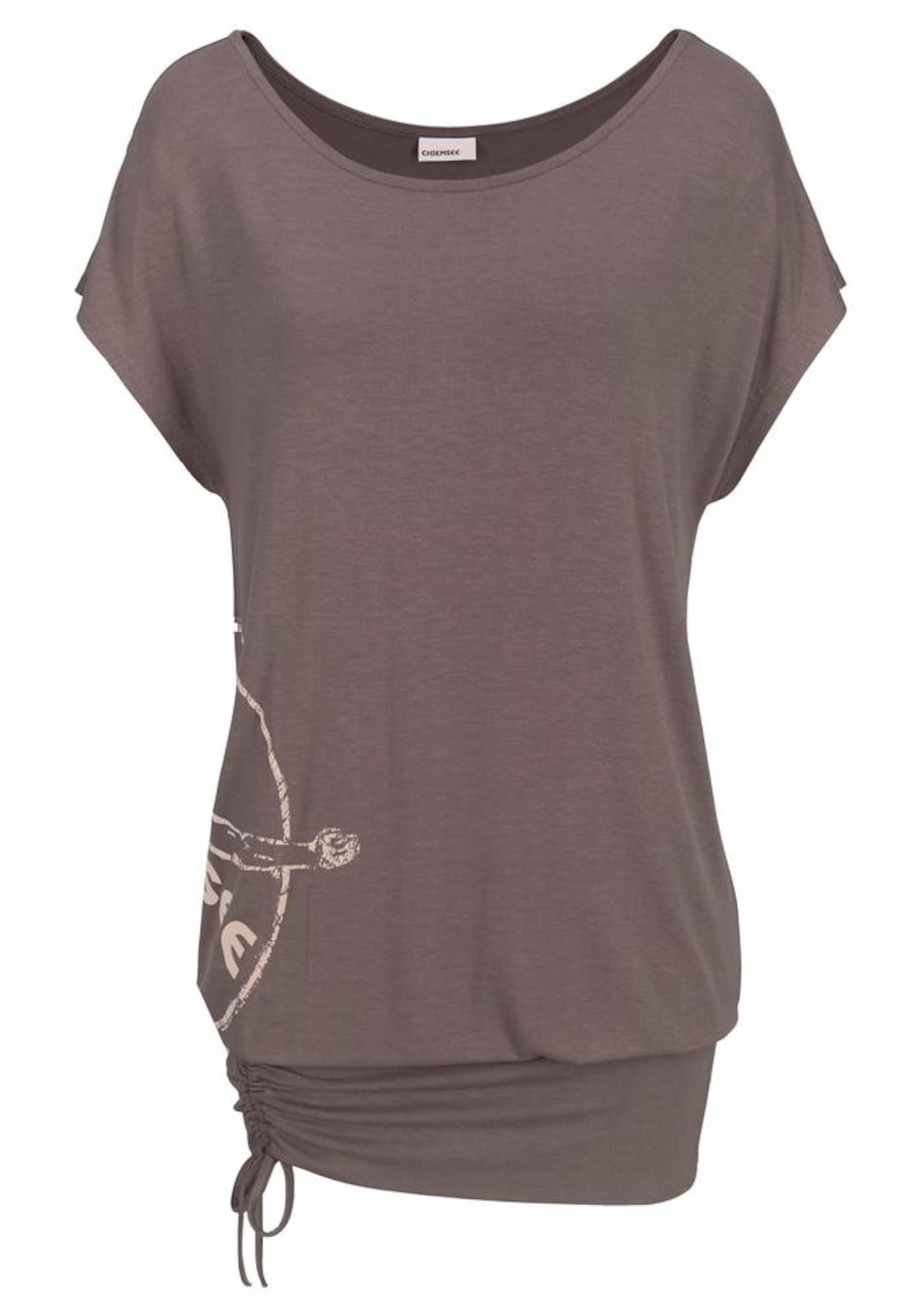 CHIEMSEE Marškinėliai rausvai pilka