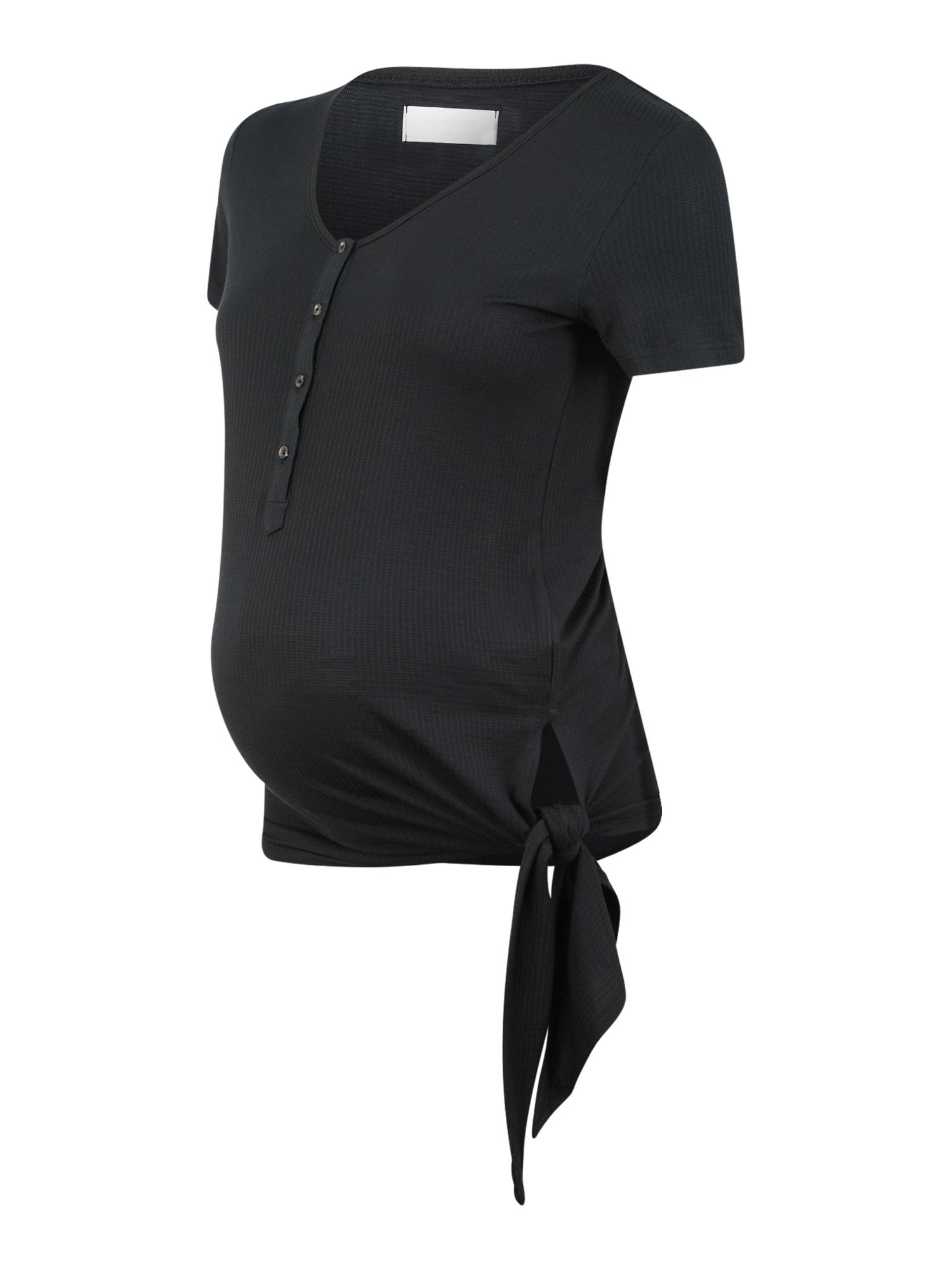 MAMALICIOUS Tričko 'FIA LIA'  čierna