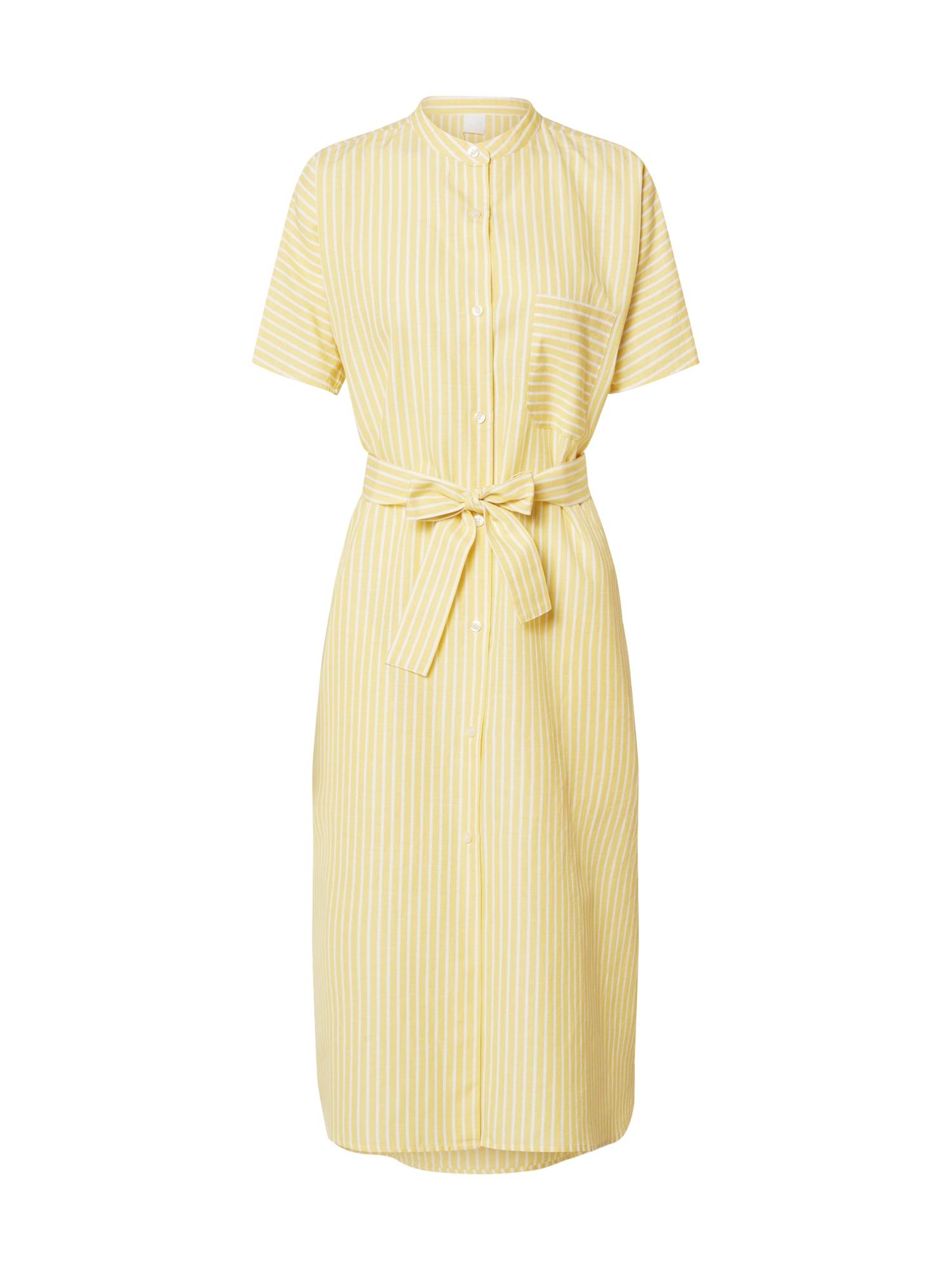 BOSS Palaidinės tipo suknelė 'Ekimono' geltona / balta