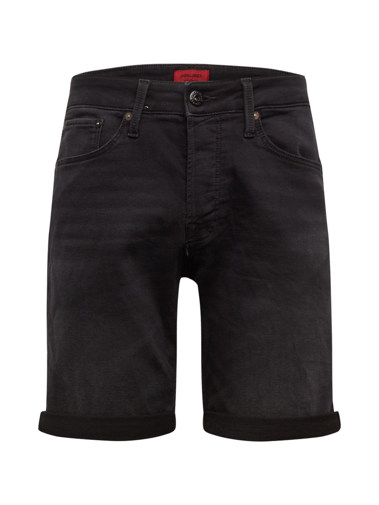 JACK & JONES Džinsai 'JJIRICK JJICON SHORTS GE 010 I.K STS' juodo džinso spalva