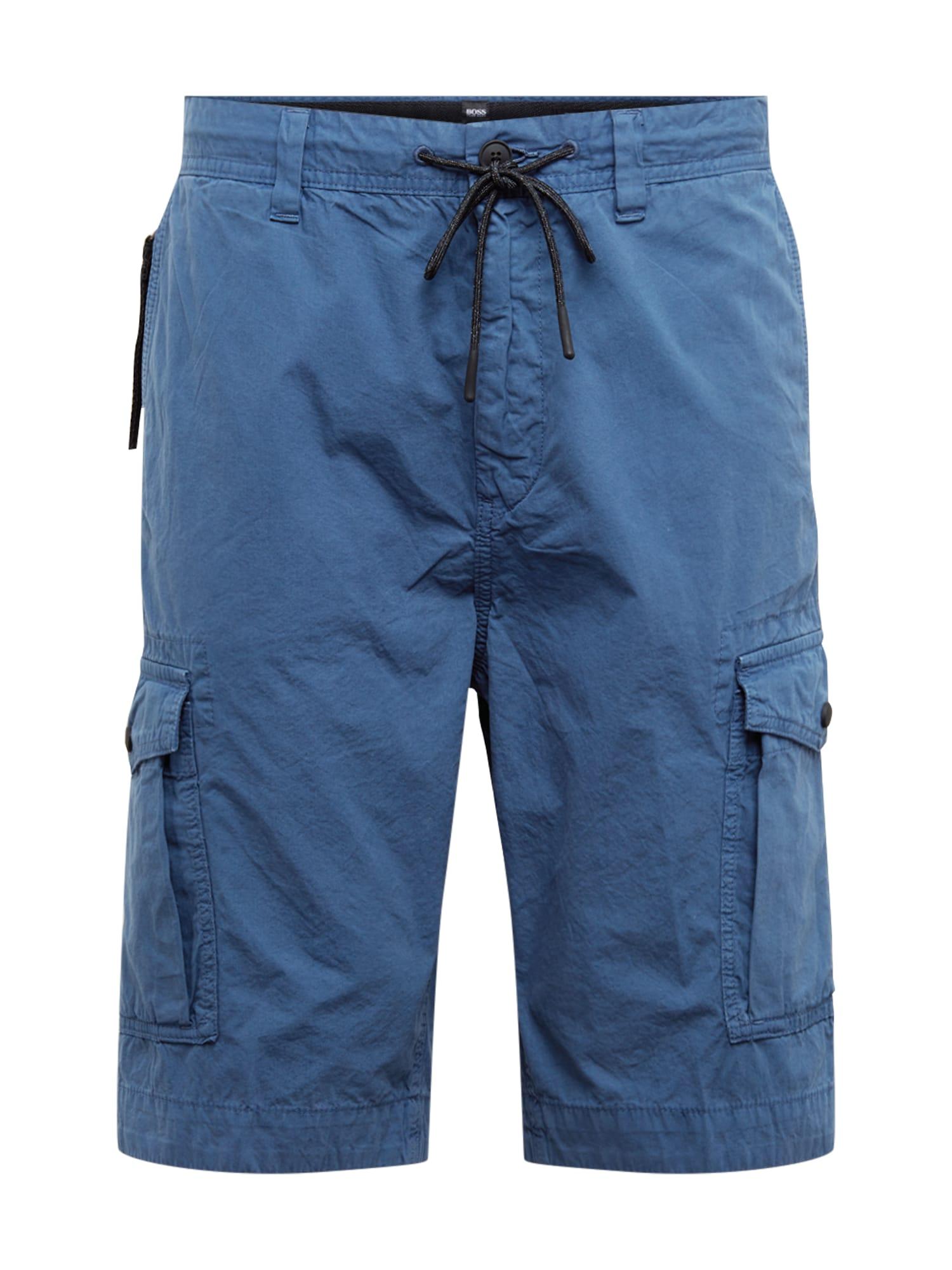 BOSS Laisvo stiliaus kelnės 'Sargo-Shorts2' tamsiai mėlyna