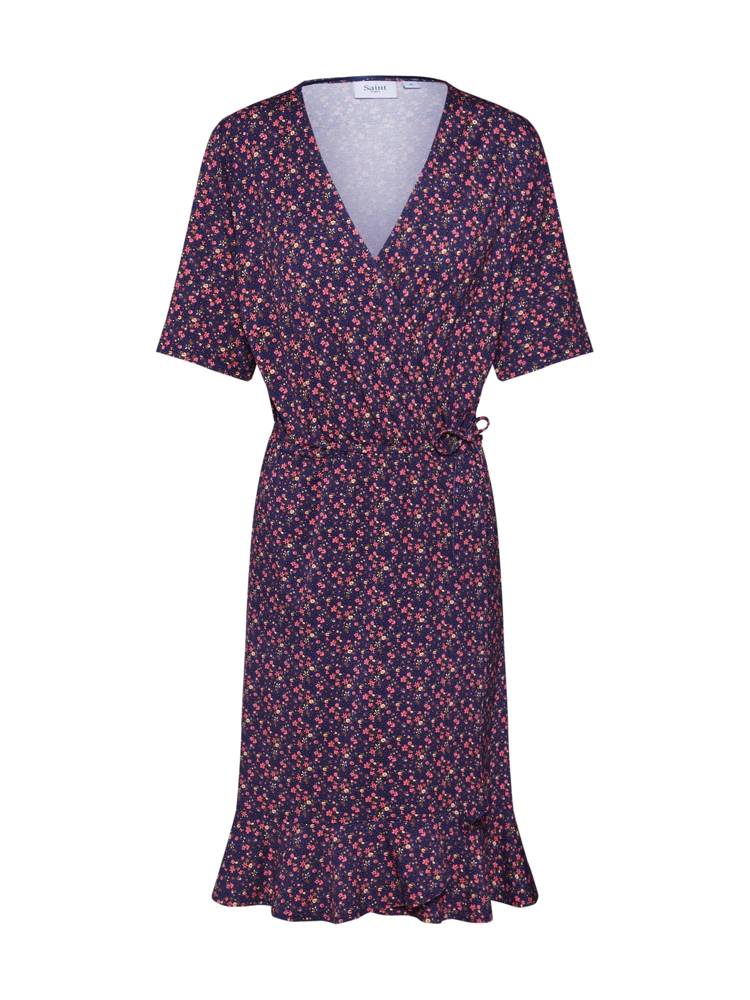 Letní šaty tmavě modrá červená SAINT TROPEZ
