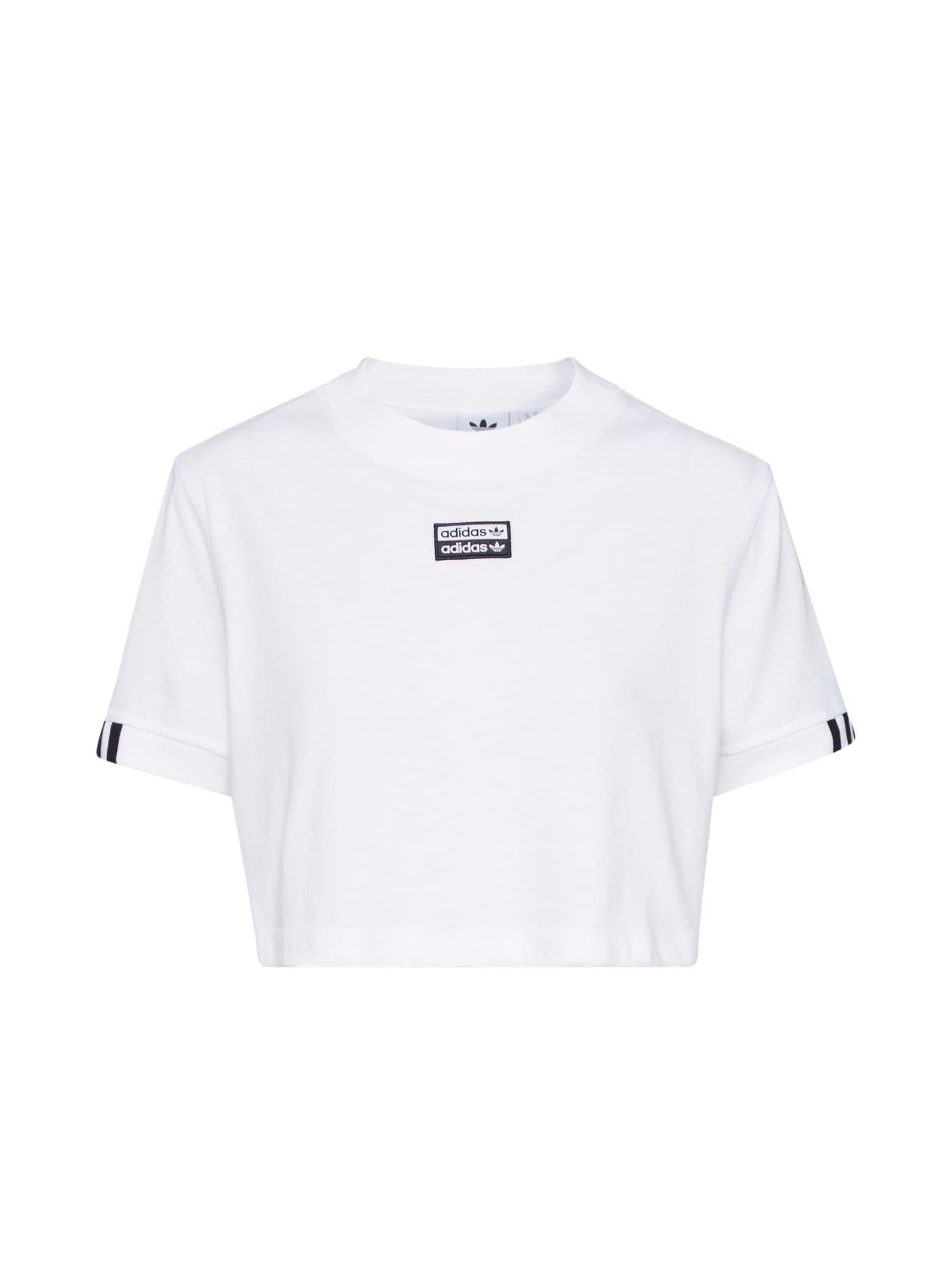 ADIDAS ORIGINALS Marškinėliai 'TEE CROPPED' balta