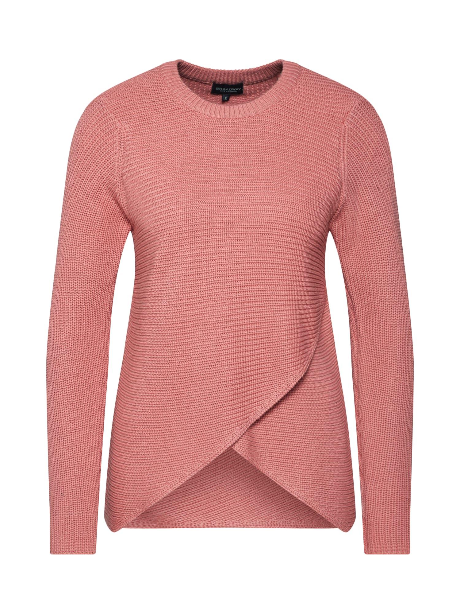 Maxi svetr Sweater Kora starorůžová BROADWAY NYC FASHION