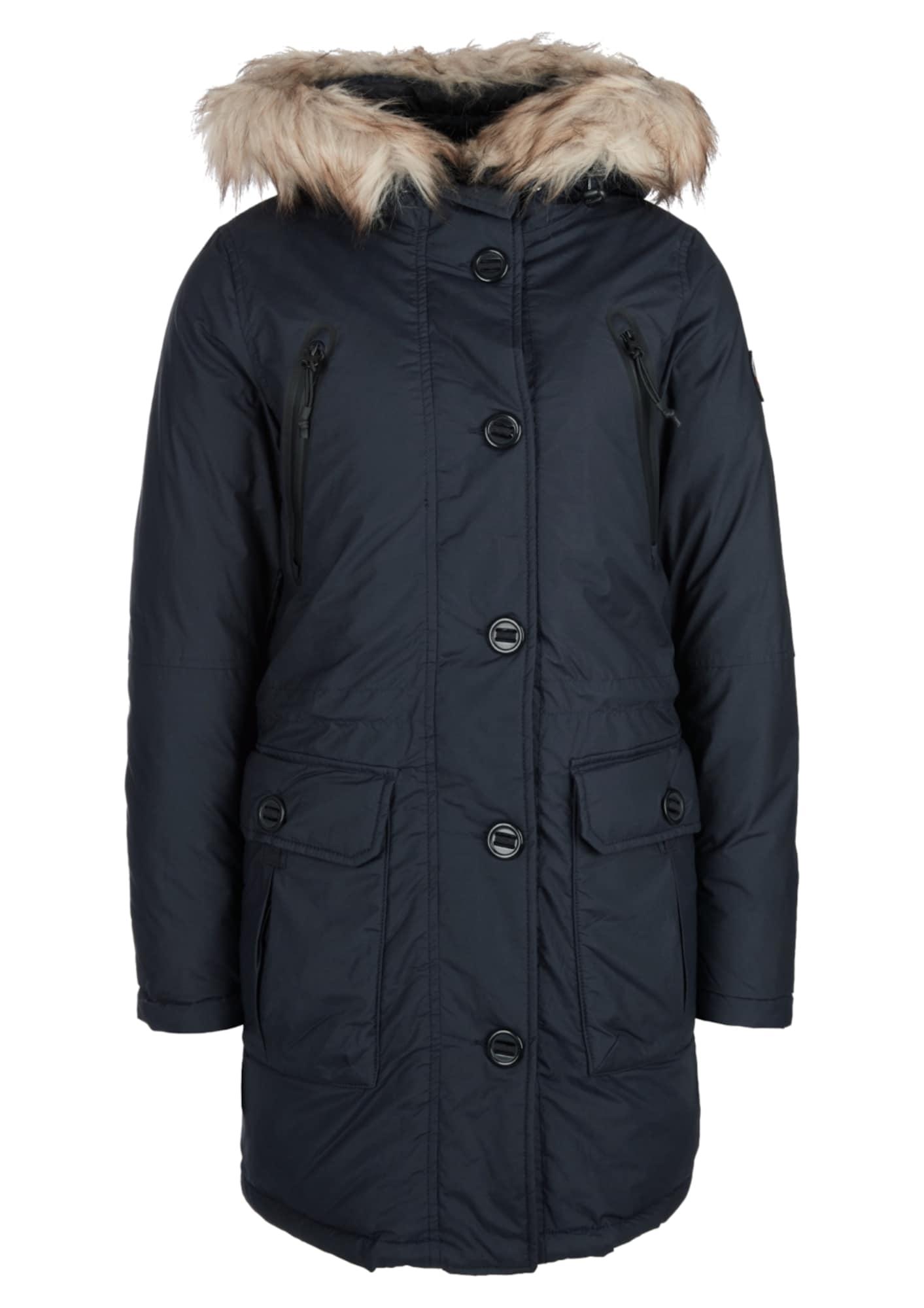 Q/S designed by Zimní kabát  tmavě modrá