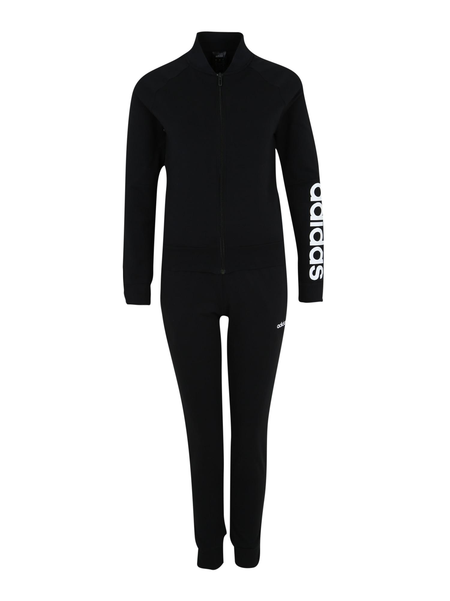 ADIDAS PERFORMANCE Treniruočių kostiumas 'WTS NEW CO MARK' juoda / balta