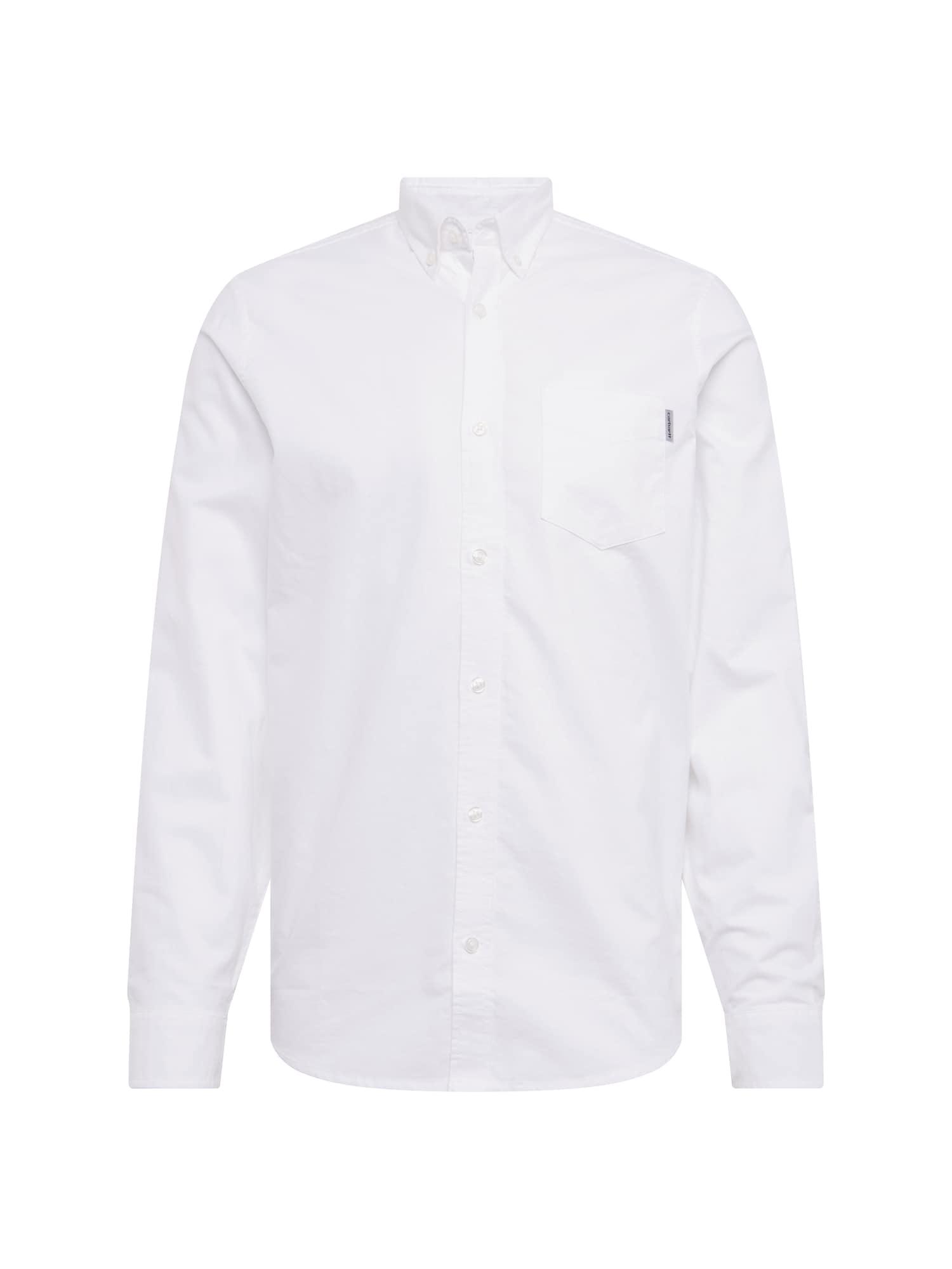 Carhartt WIP Dalykiniai marškiniai 'L/S Button Down Pocket' balta